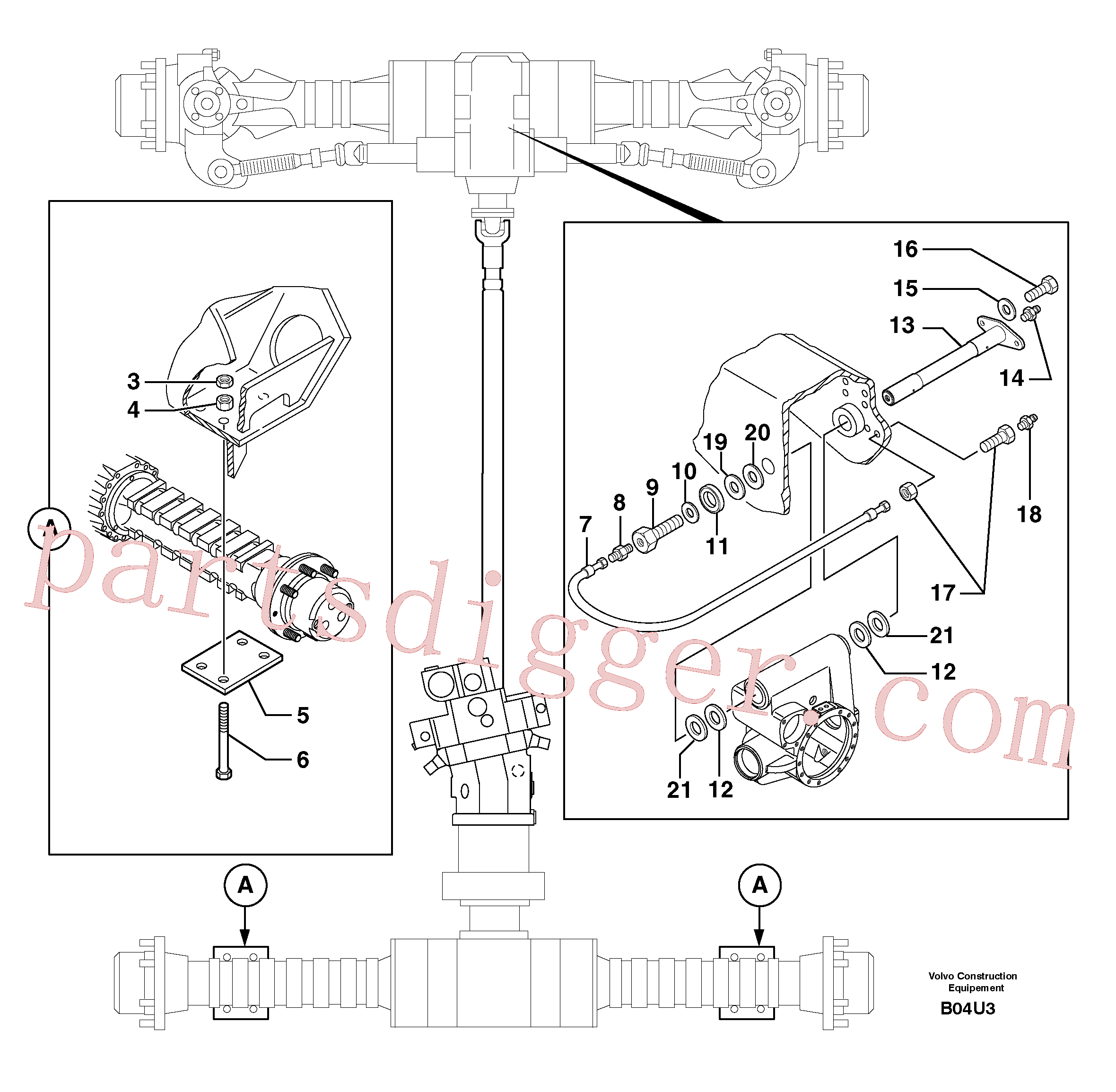 ZM7098421 for Volvo Axle cradles and mountings(B04U3 assembly)