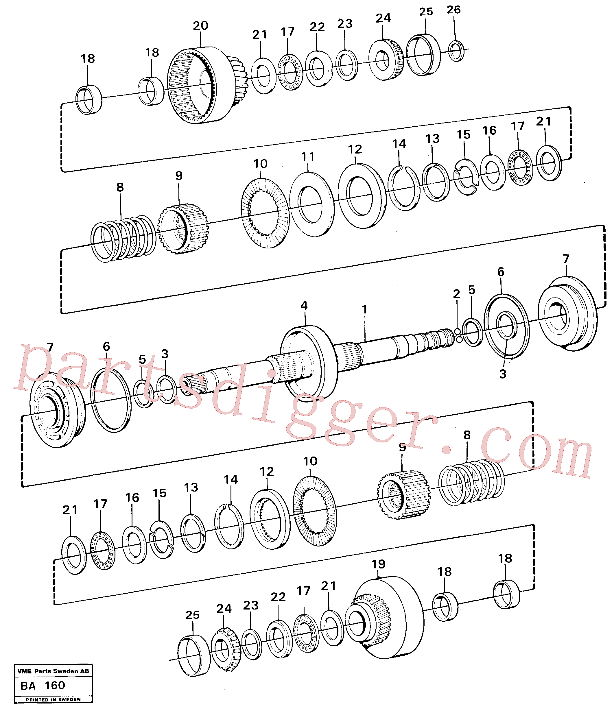 VOE4720805 for Volvo Clutches forward and reverse(BA160 assembly)