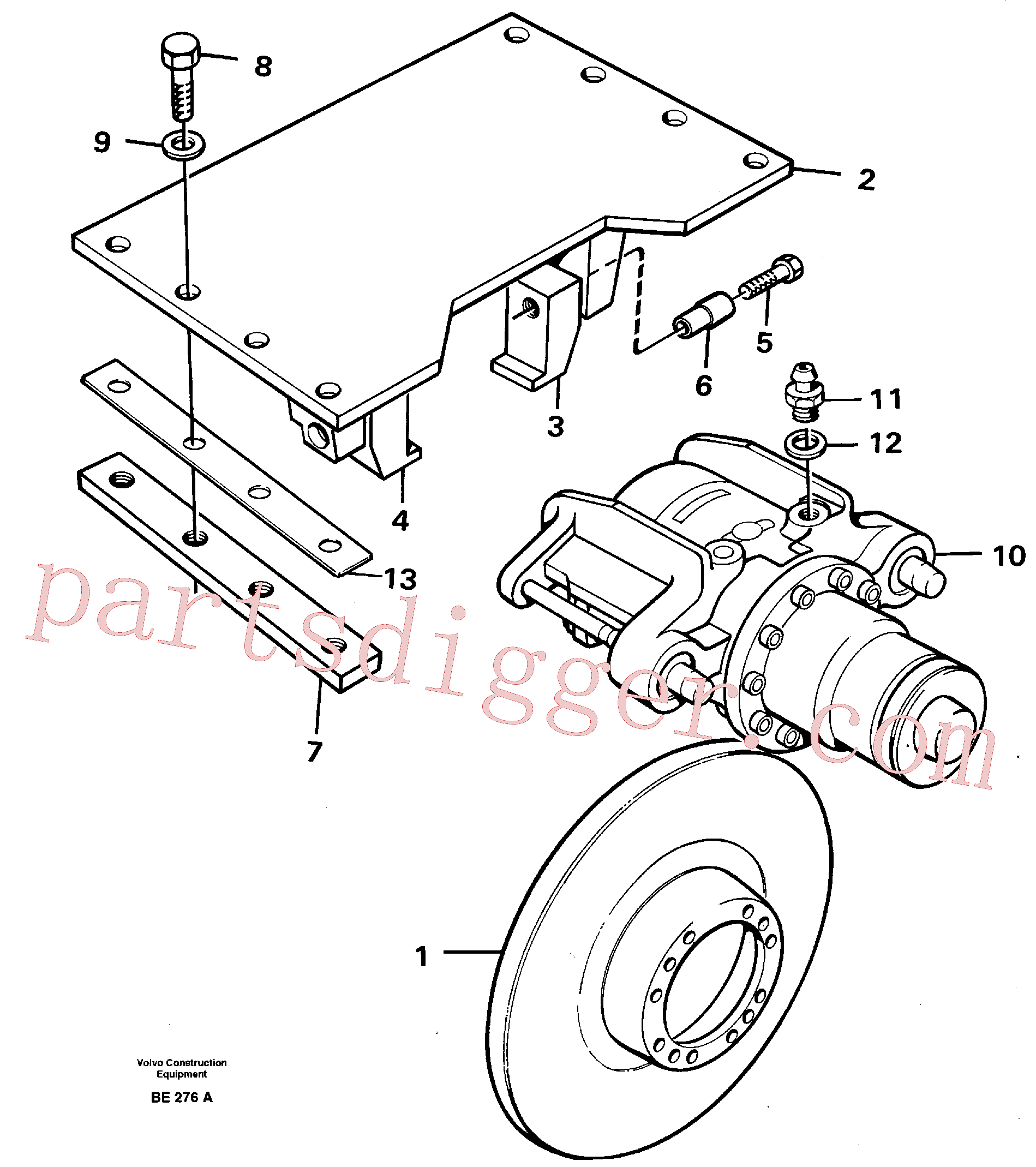 VOE14023340 for Volvo Parking brake(BE276A assembly)