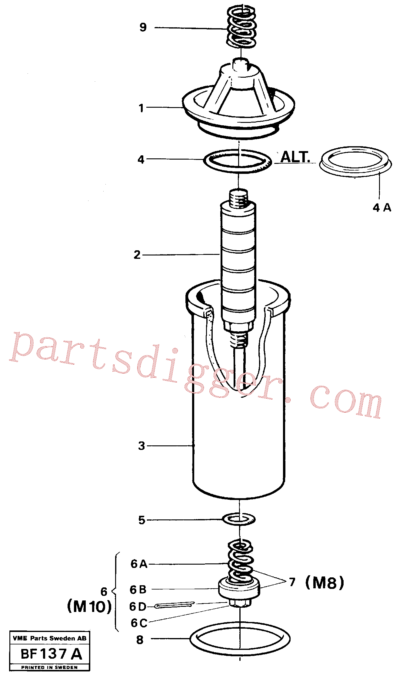 RM96724968 for Volvo Filter(BF137A assembly)