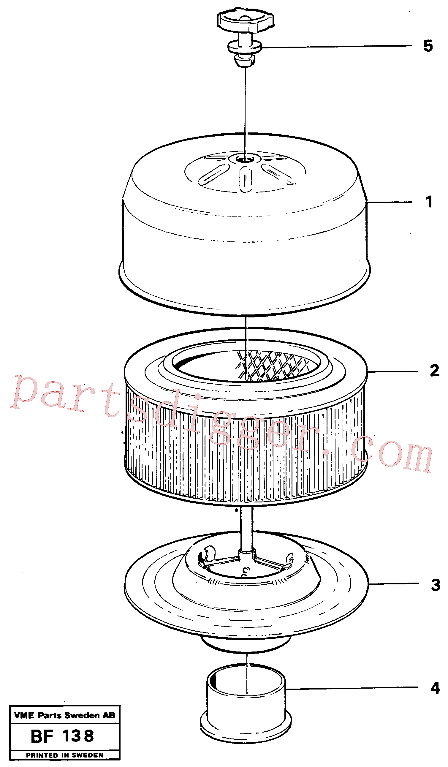 VOE11033540 for Volvo Filter(BF138 assembly)