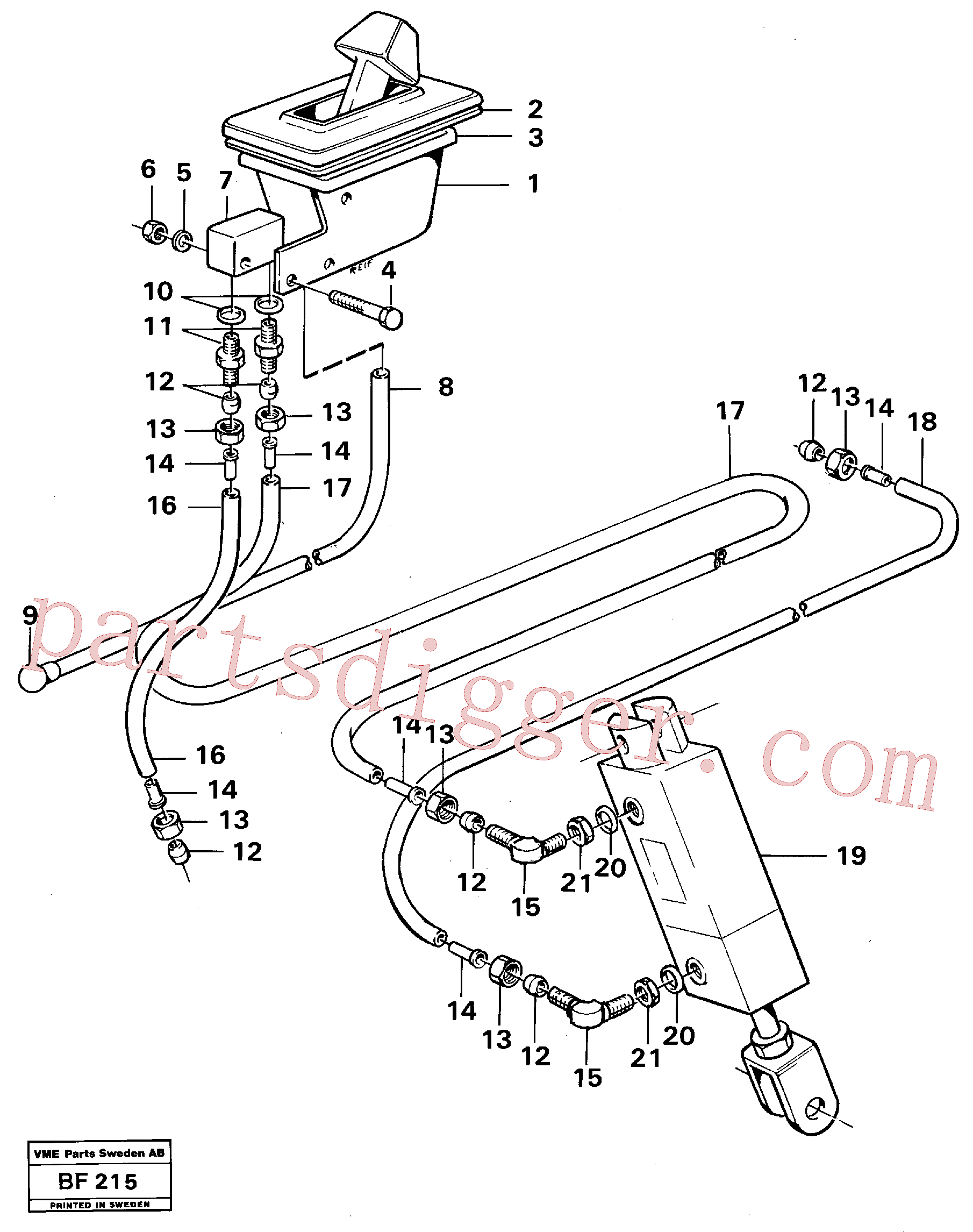 VOE945892 for Volvo Control for high and low gear(BF215 assembly)
