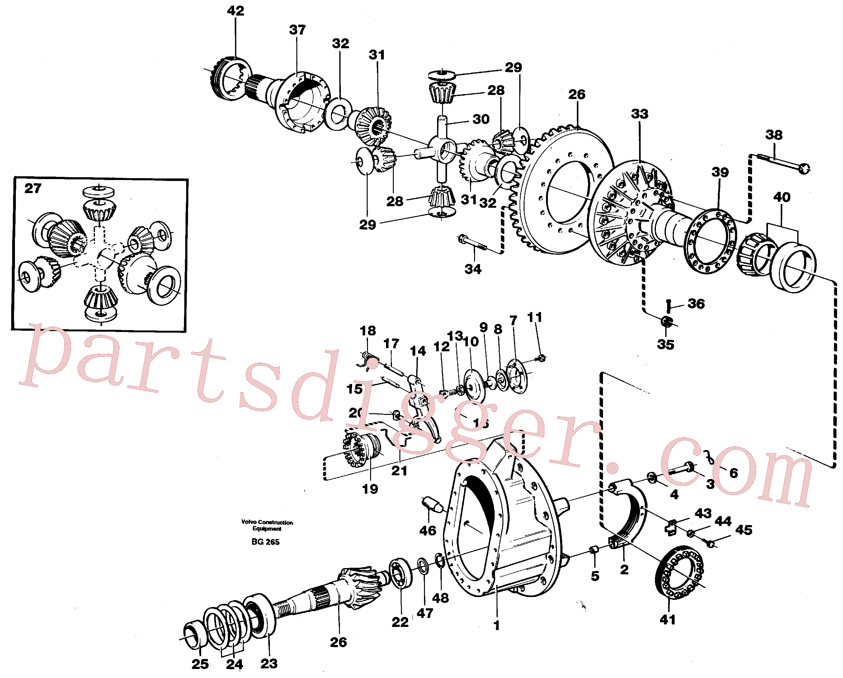 VOE1522082 for Volvo Final drive(BG265 assembly)