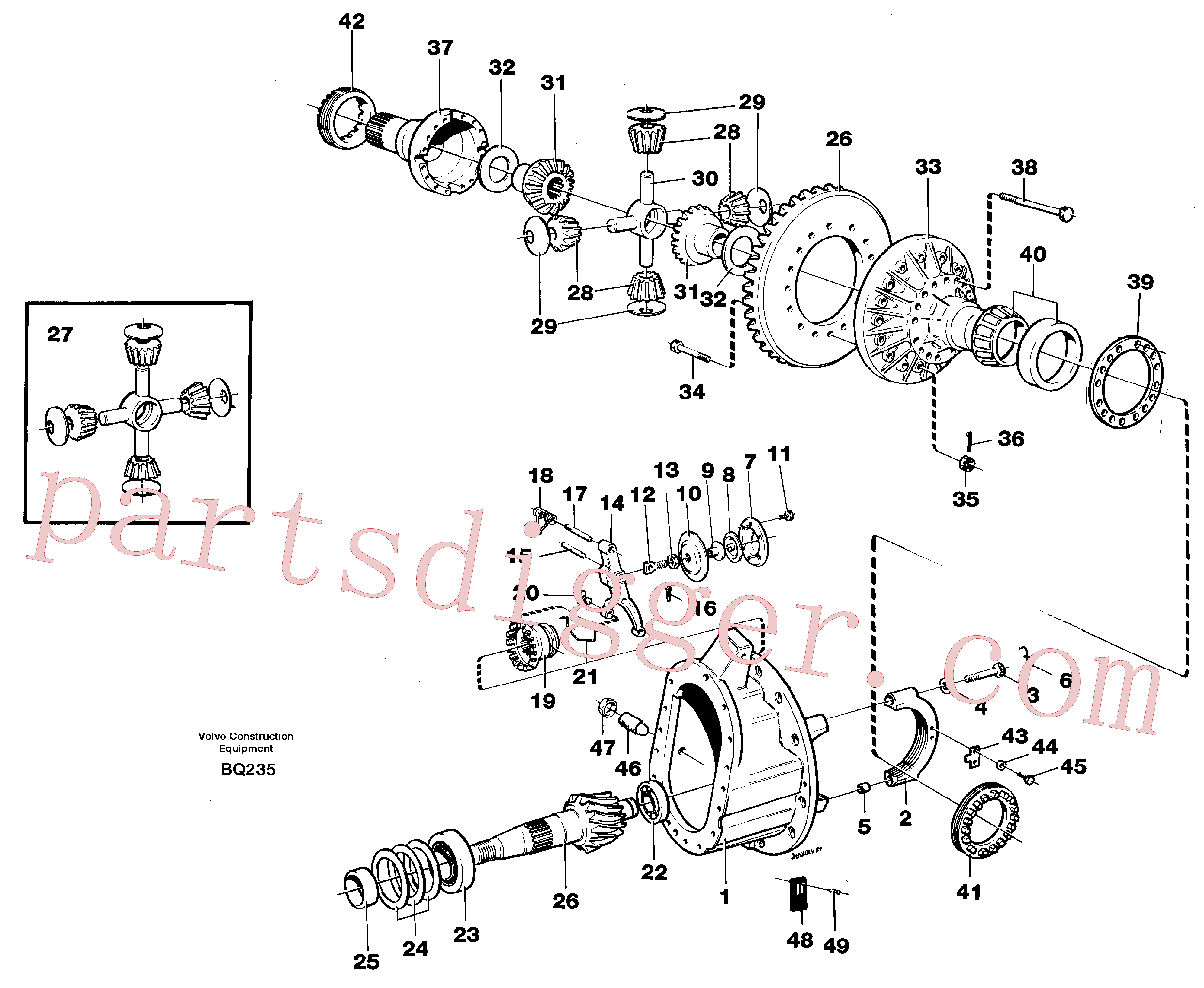 VOE383988 for Volvo Final drive(BQ235 assembly)