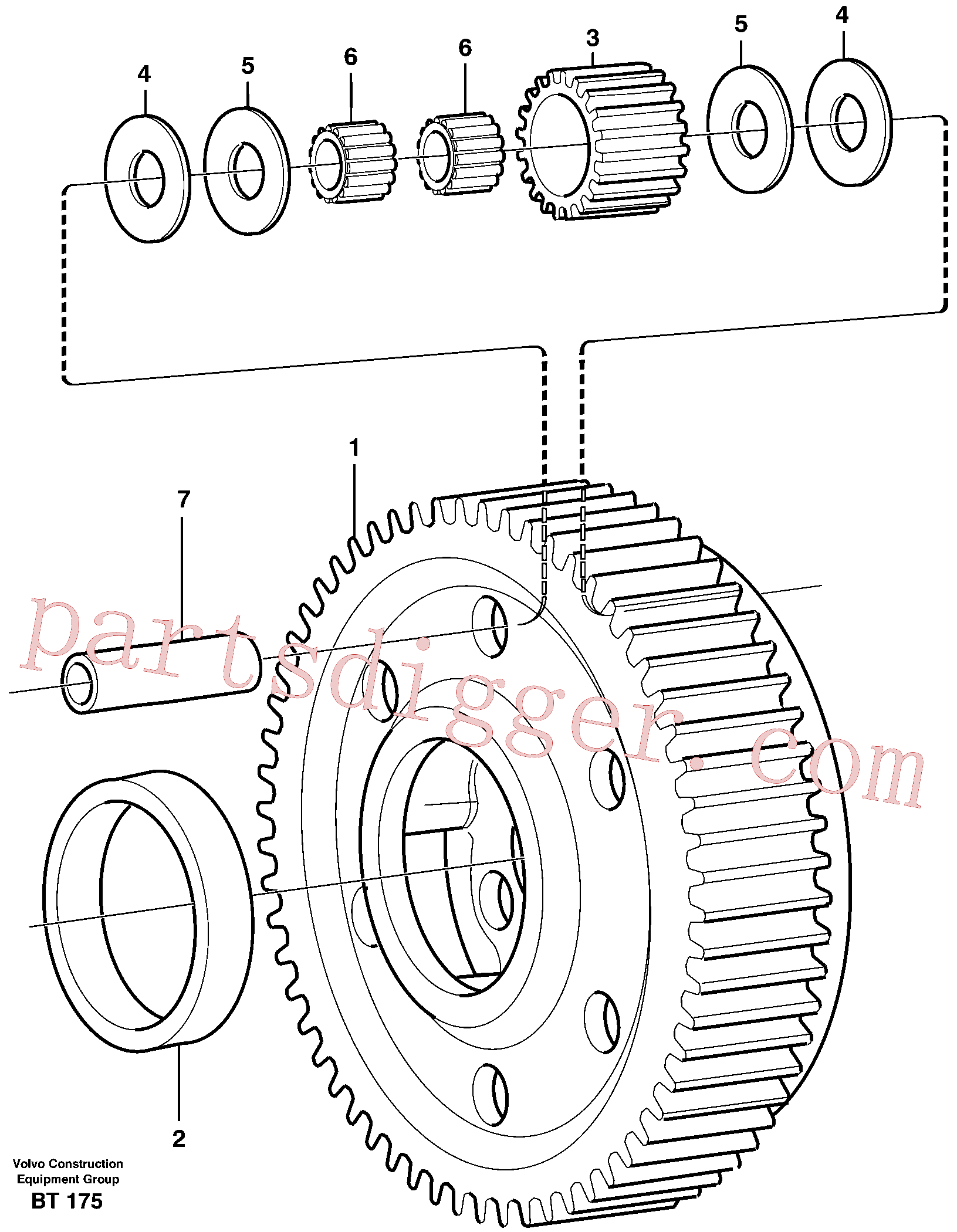 VOE1650375 for Volvo Planet kit, stage 5(BT175 assembly)
