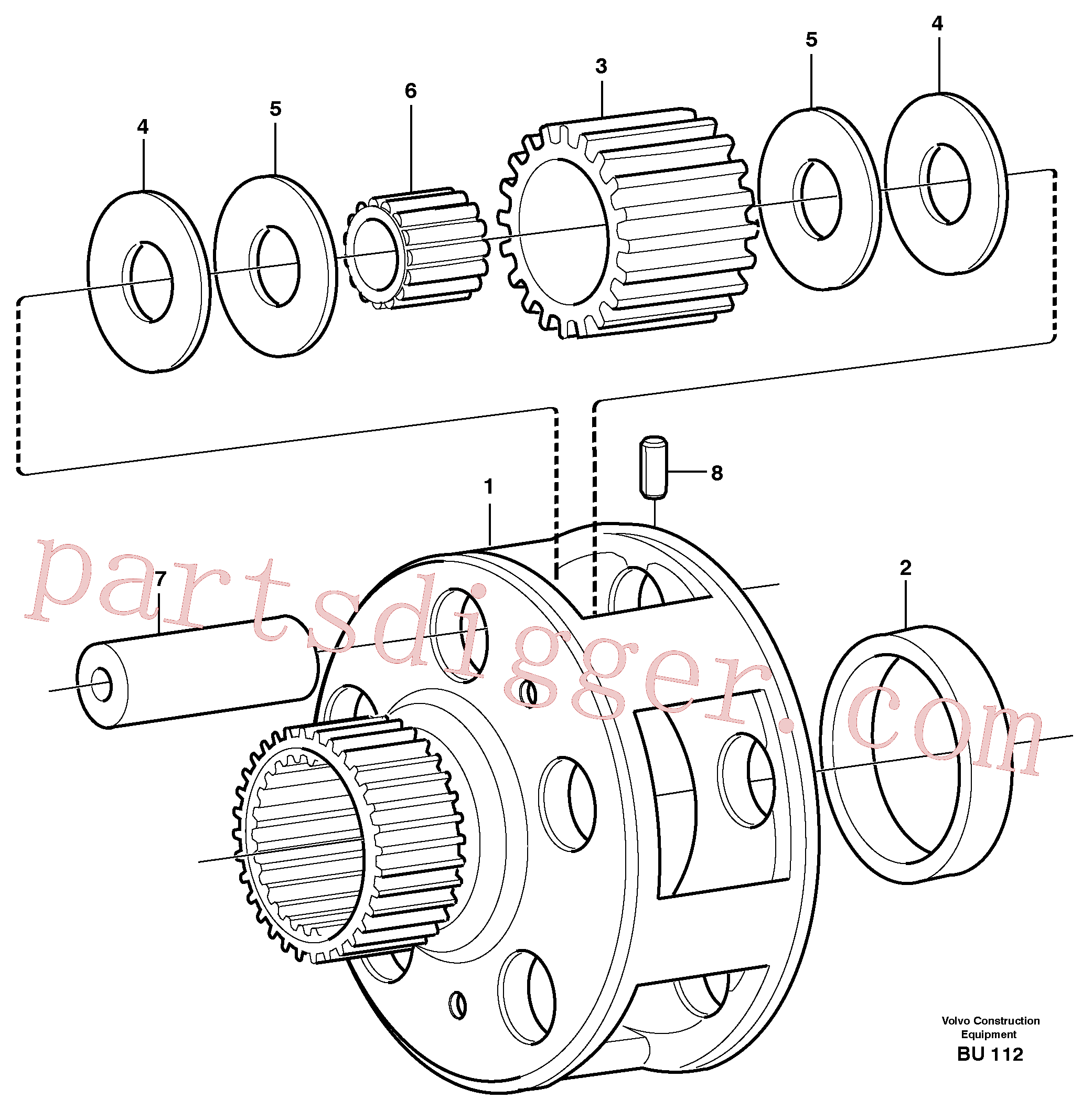 VOE1650200 for Volvo Planet kit, stage 4(BU112 assembly)