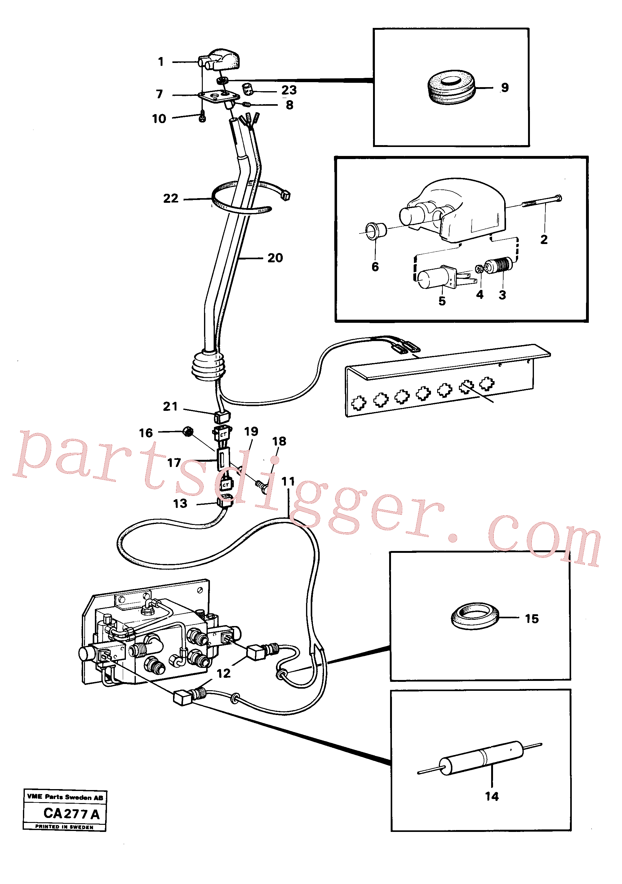 VOE13943438 for Volvo El.system for dual-actinghydraulic outlet on loader unit(CA277A assembly)