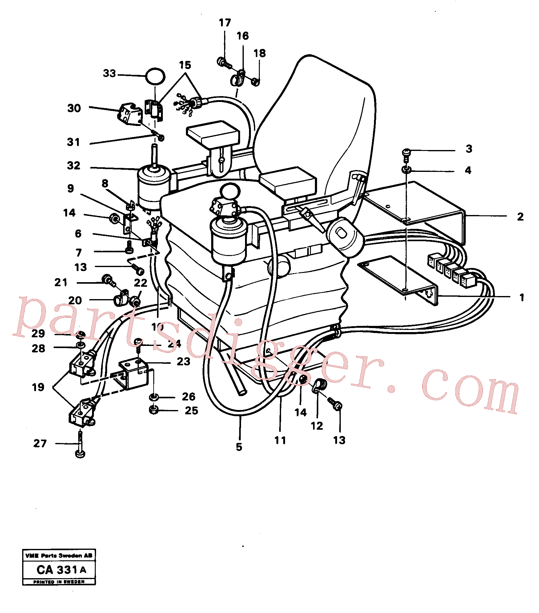 VOE13943438 for Volvo El. hydraulic servo system Operating lever(CA331A assembly)