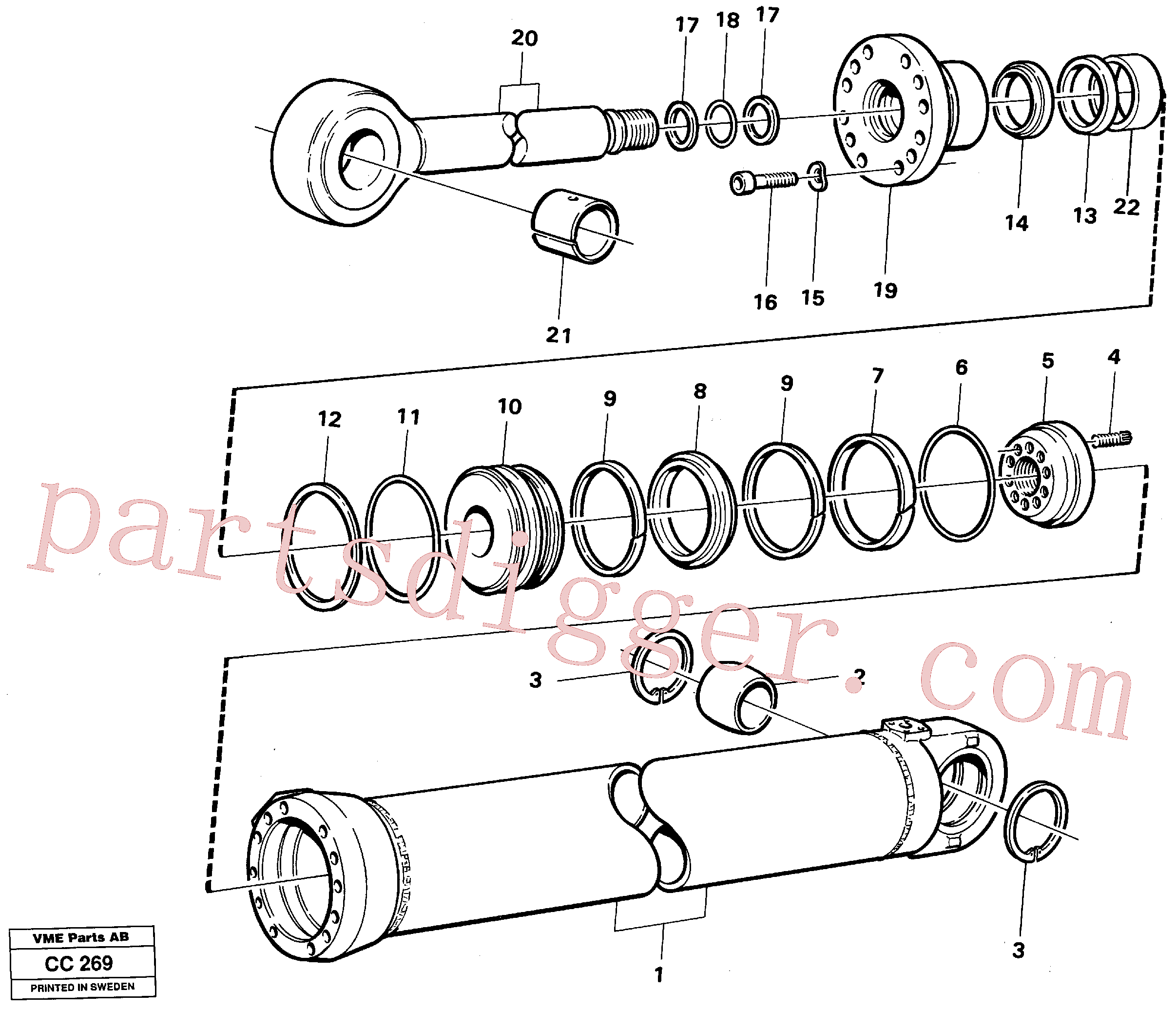 VOE4833009 for Volvo Dipperstick cylinder(CC269 assembly)