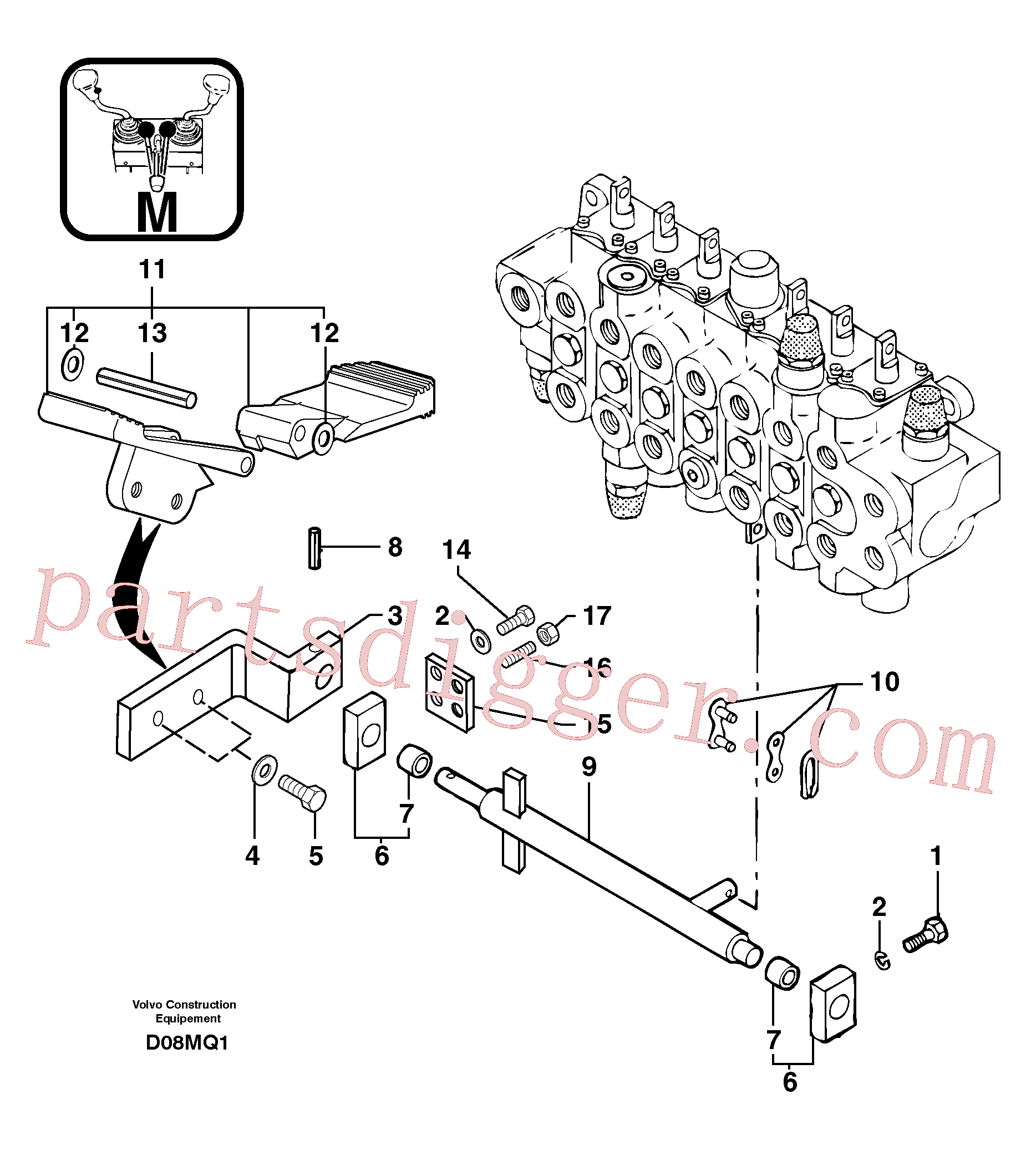VOE951998 for Volvo Control pedal : accessories(D08MQ1 assembly)