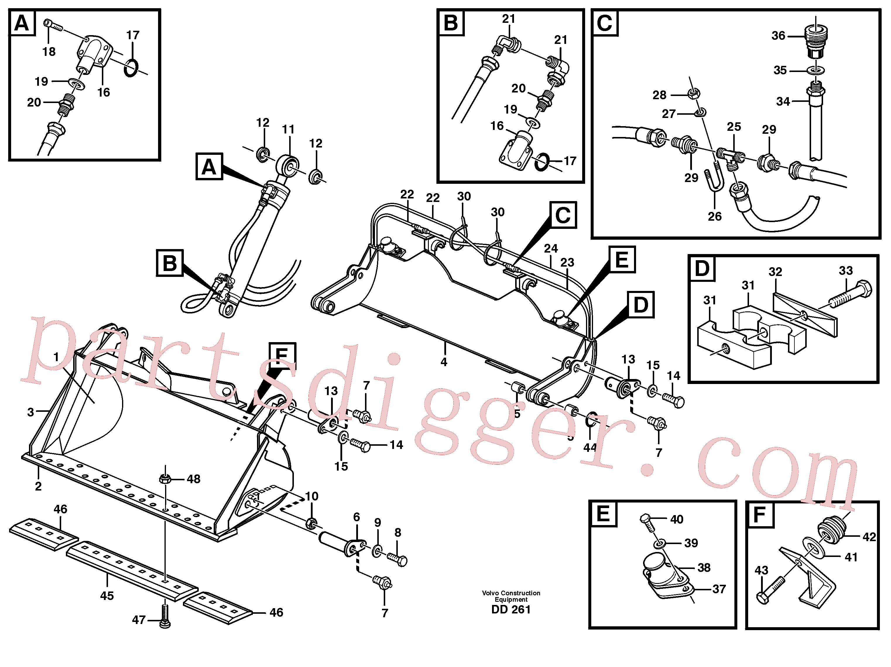 VOE11045366 for Volvo High-tipping bucket(DD261 assembly)