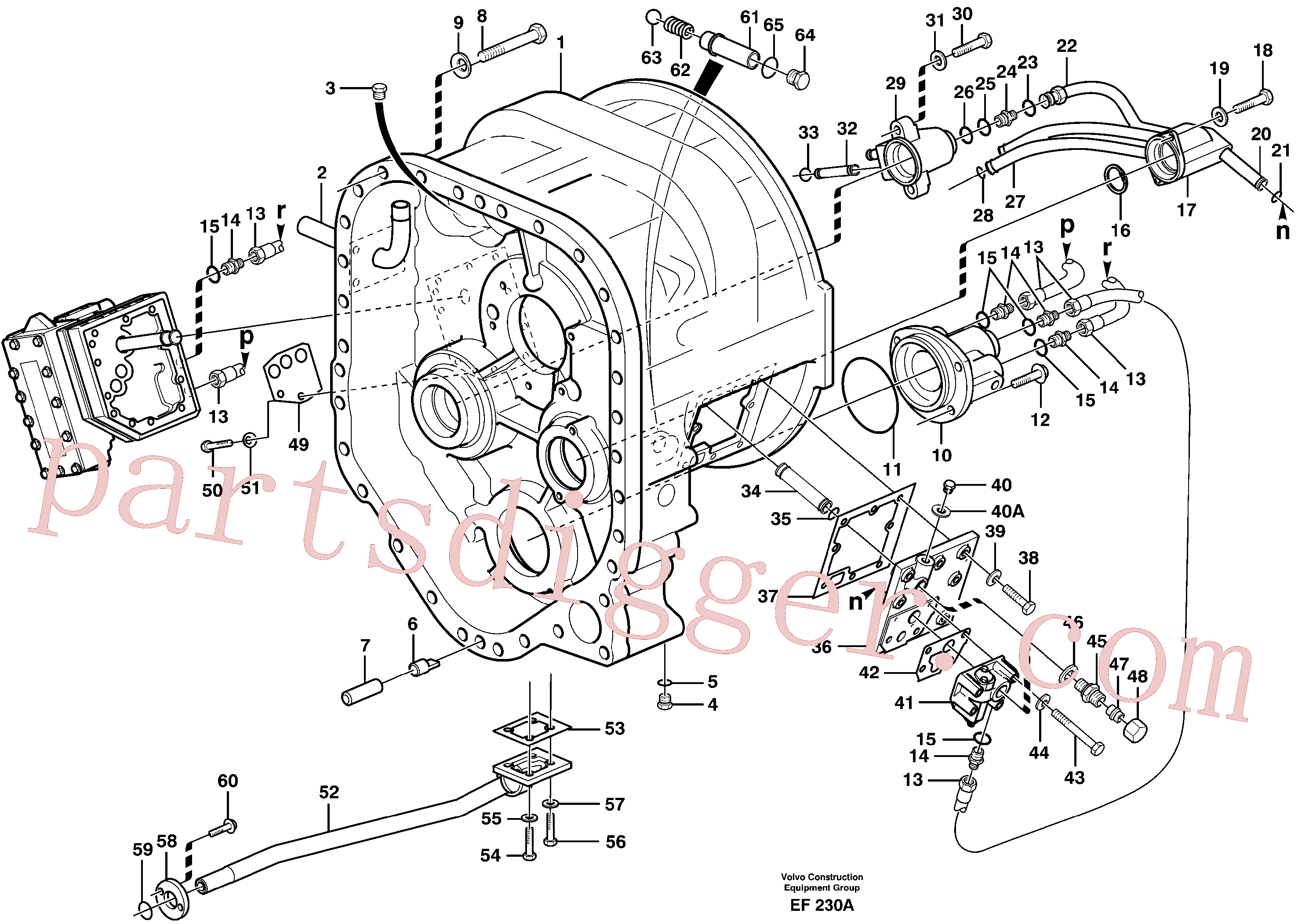 VOE925263 for Volvo Converter housing with fitting parts(EF230A assembly)