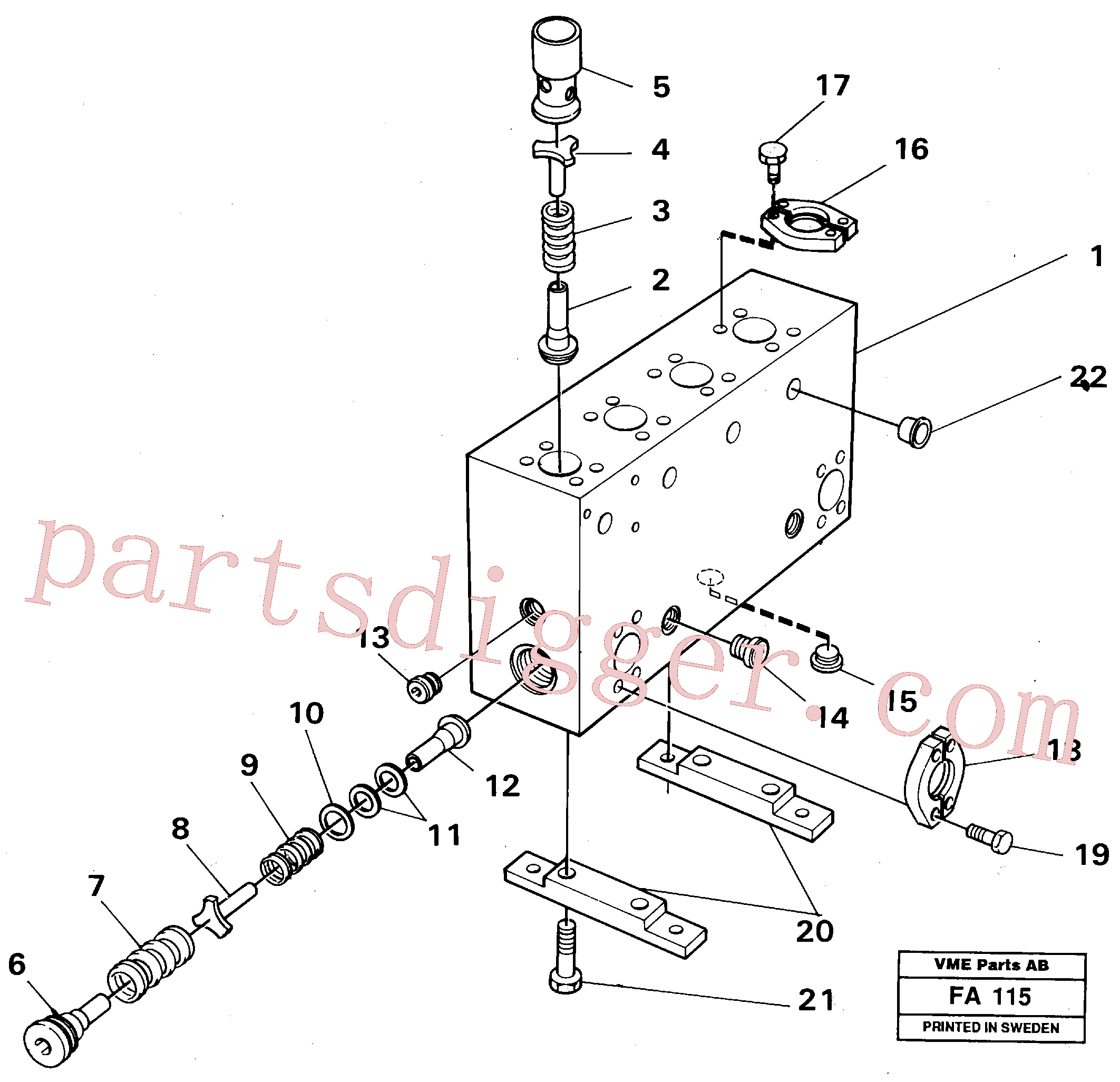VOE14048712 for Volvo Connection board(FA115 assembly)