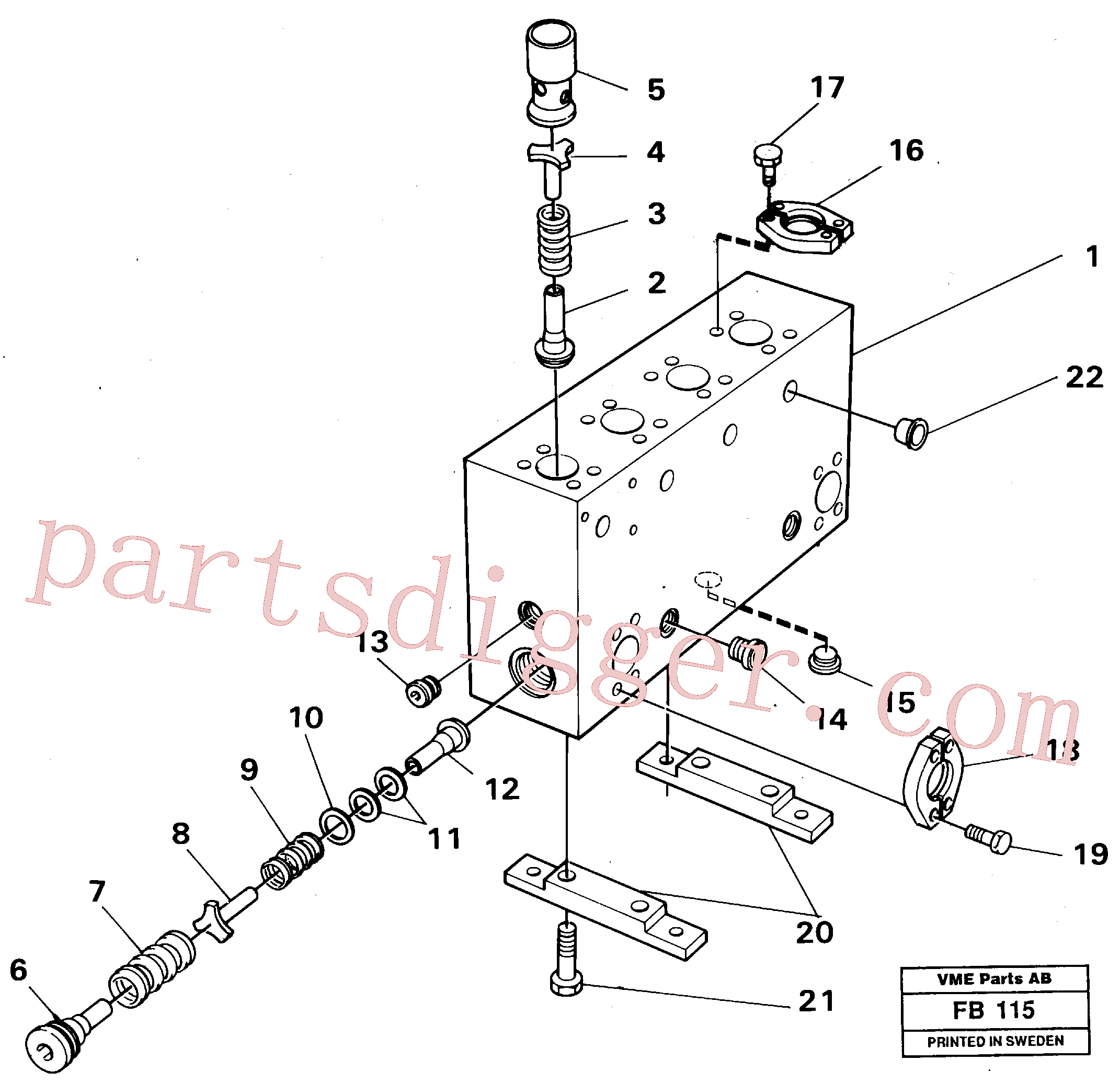 VOE14048712 for Volvo Connection board(FB115 assembly)