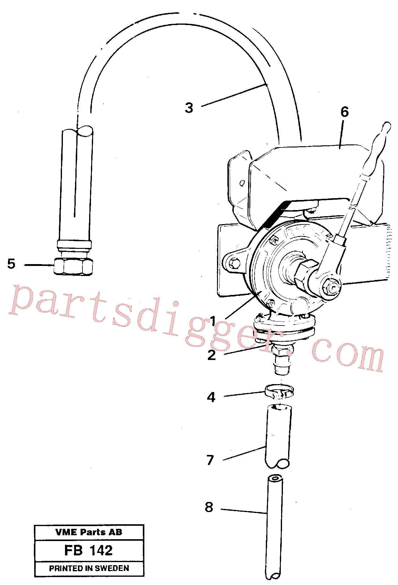 VOE14043537 for Volvo Hydraulic oil pump(FB142 assembly)