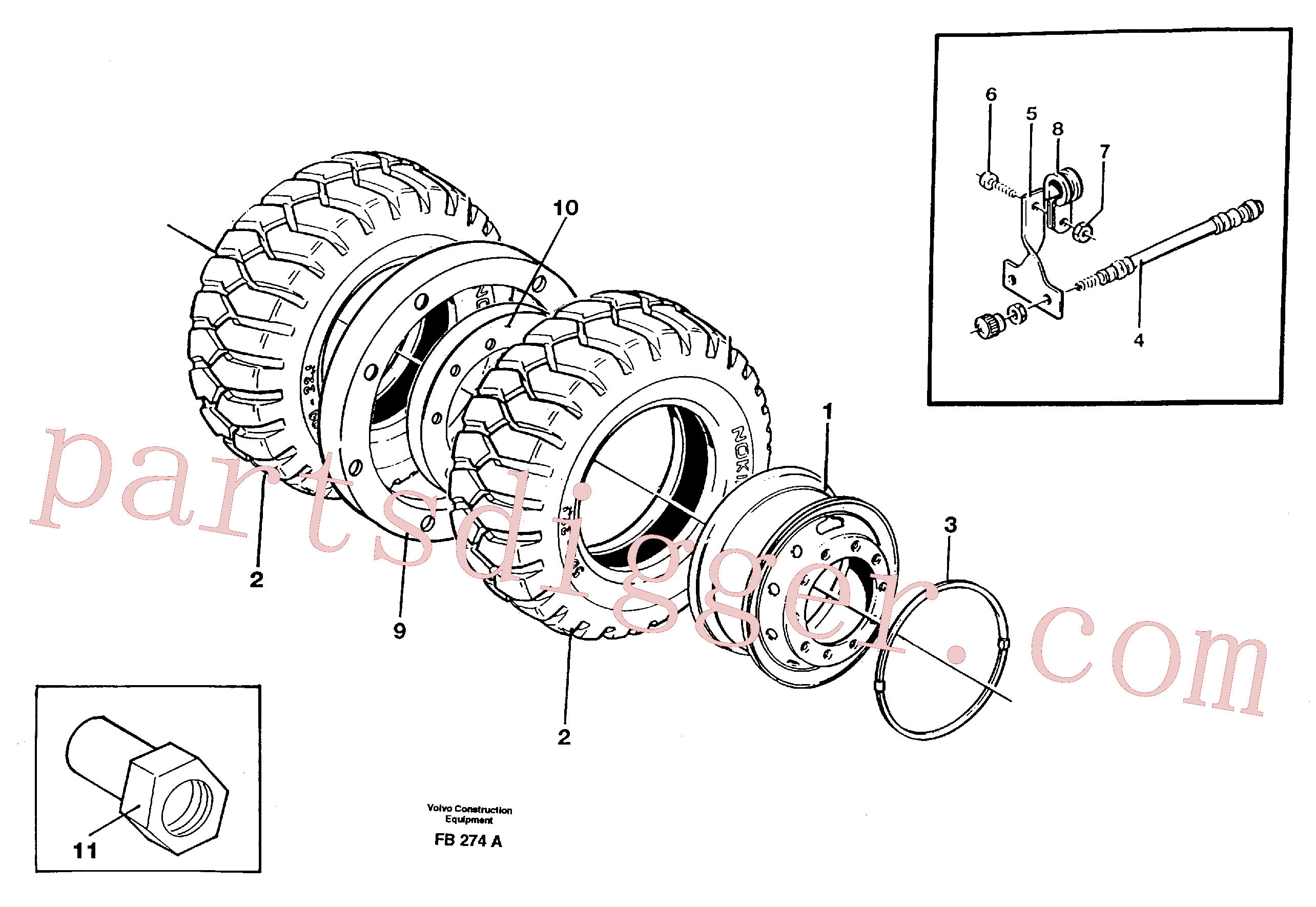 VOE14371696 for Volvo Wheel equipment(FB274A assembly)