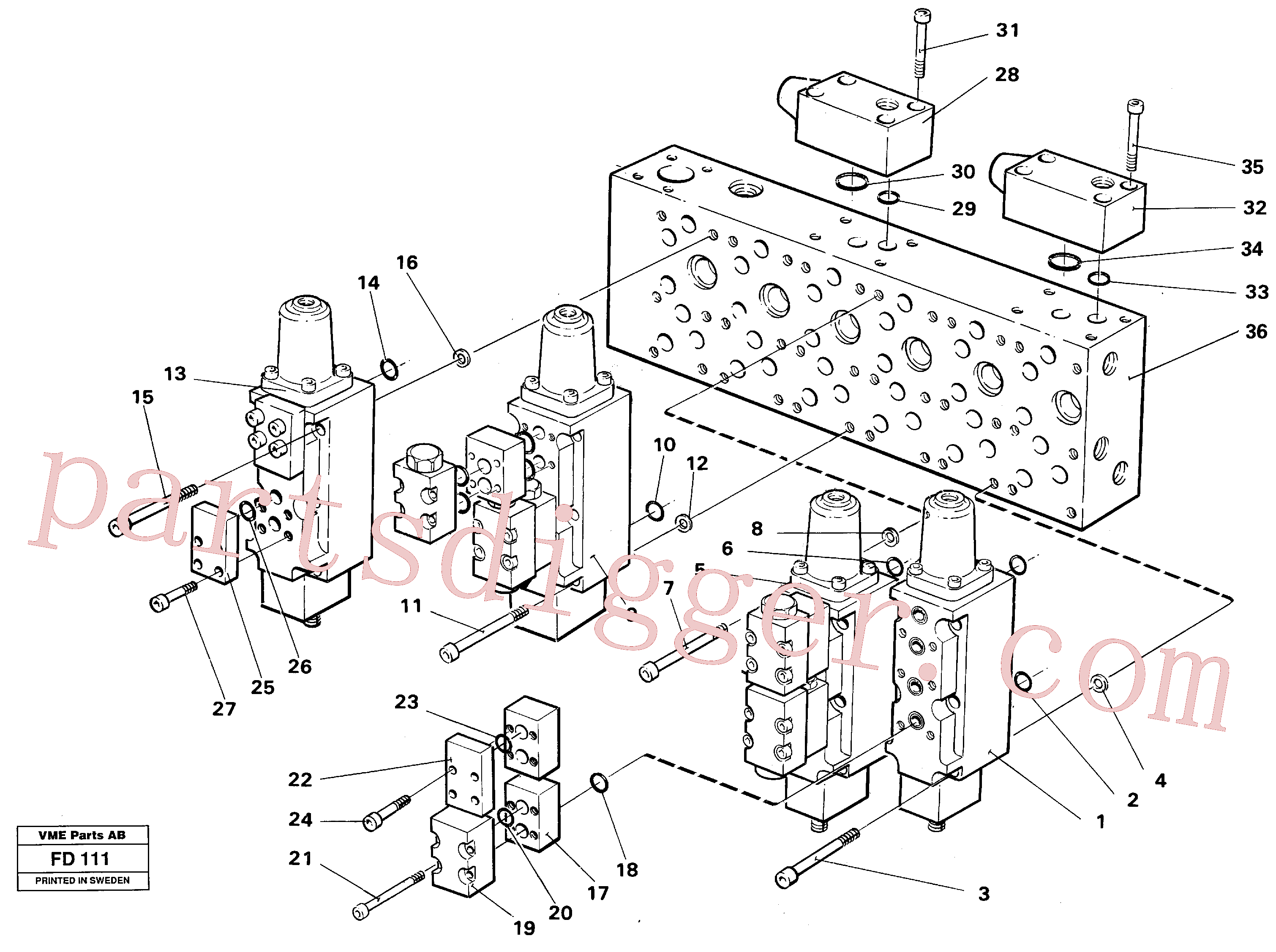 VOE14023250 for Volvo Main valve assembly valves(FD111 assembly)