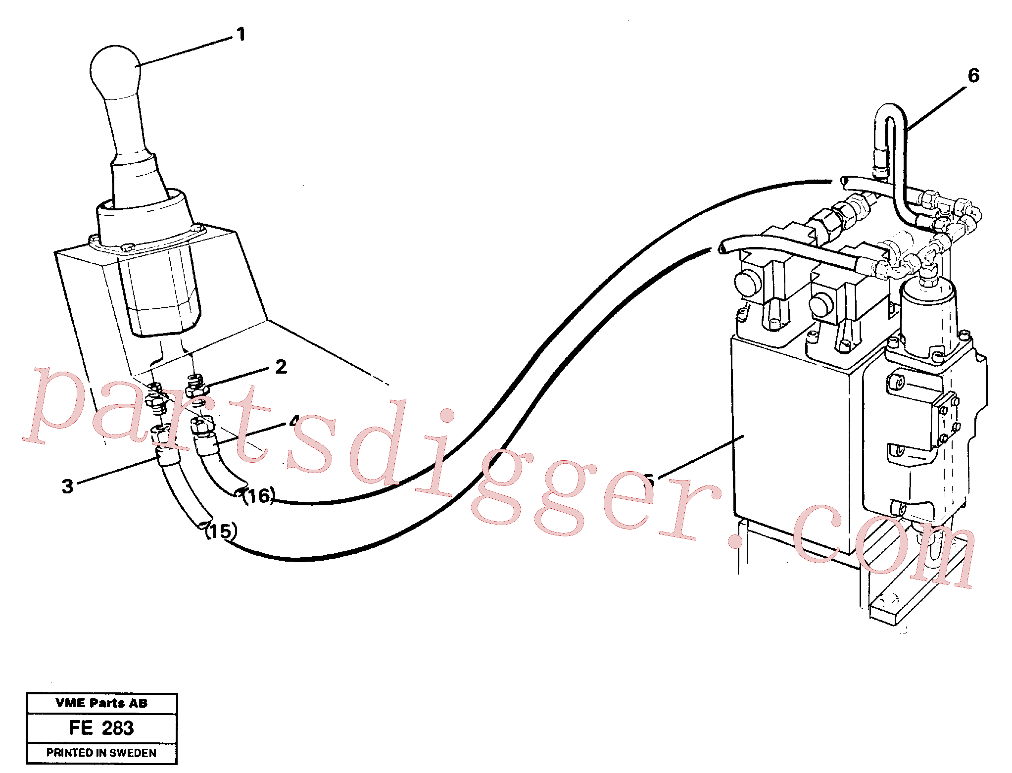 VOE14054604 for Volvo Servo hydraulics, slewing(FE283 assembly)