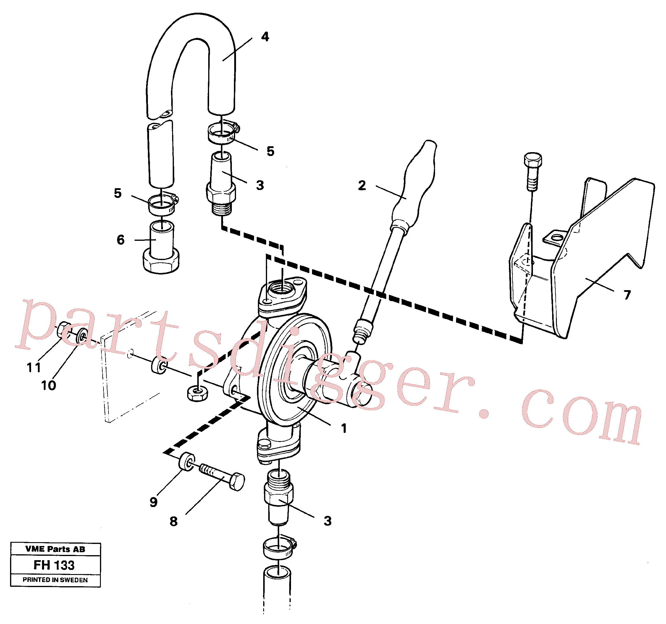VOE14043537 for Volvo Hand pump(FH133 assembly)