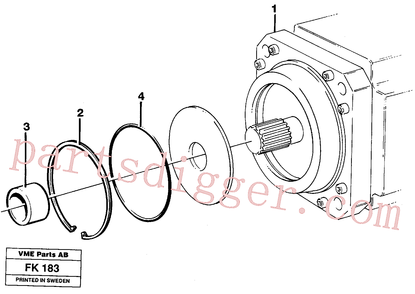 VOE3793420 for Volvo Hydraulic motor, transport.(FK183 assembly)