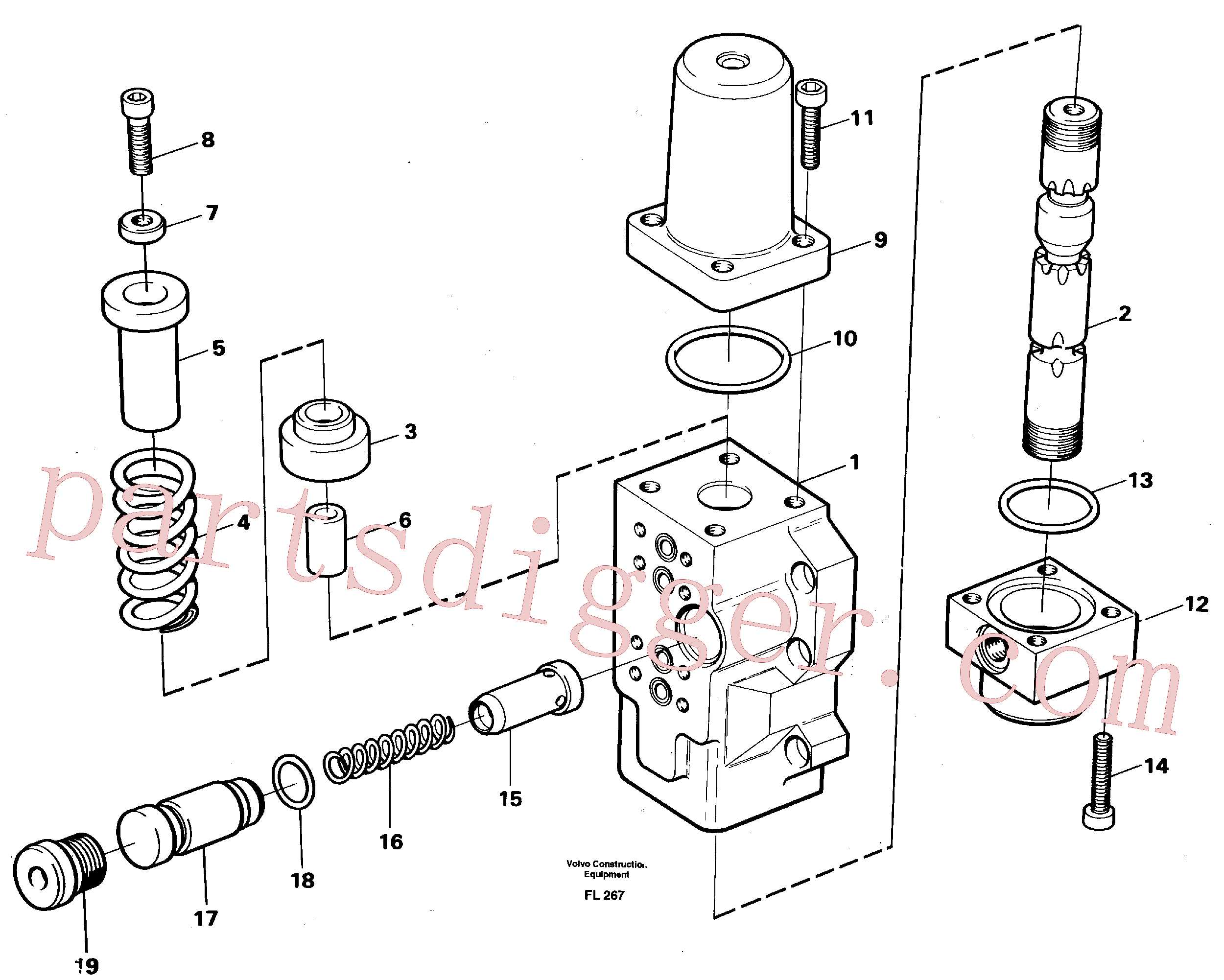VOE13925095 for Volvo Fourway valve, transport primary and secondary(FL267 assembly)