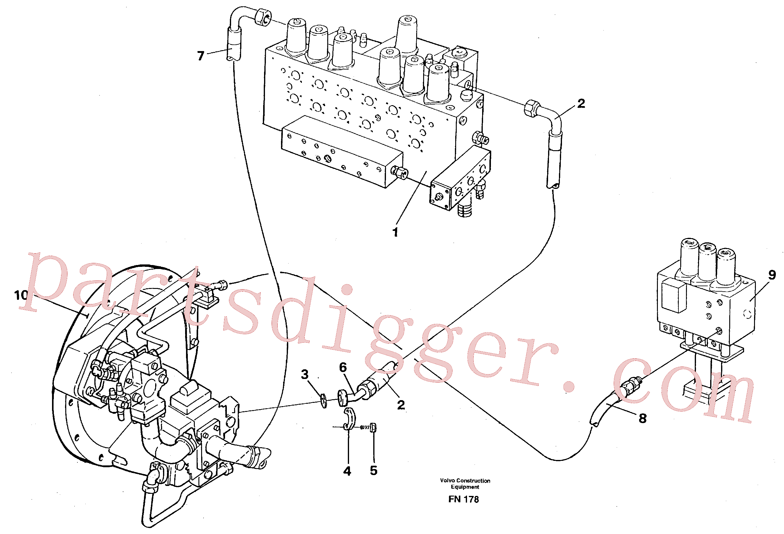 VOE14053650 for Volvo Hydraulic system, feed line(FN178 assembly)