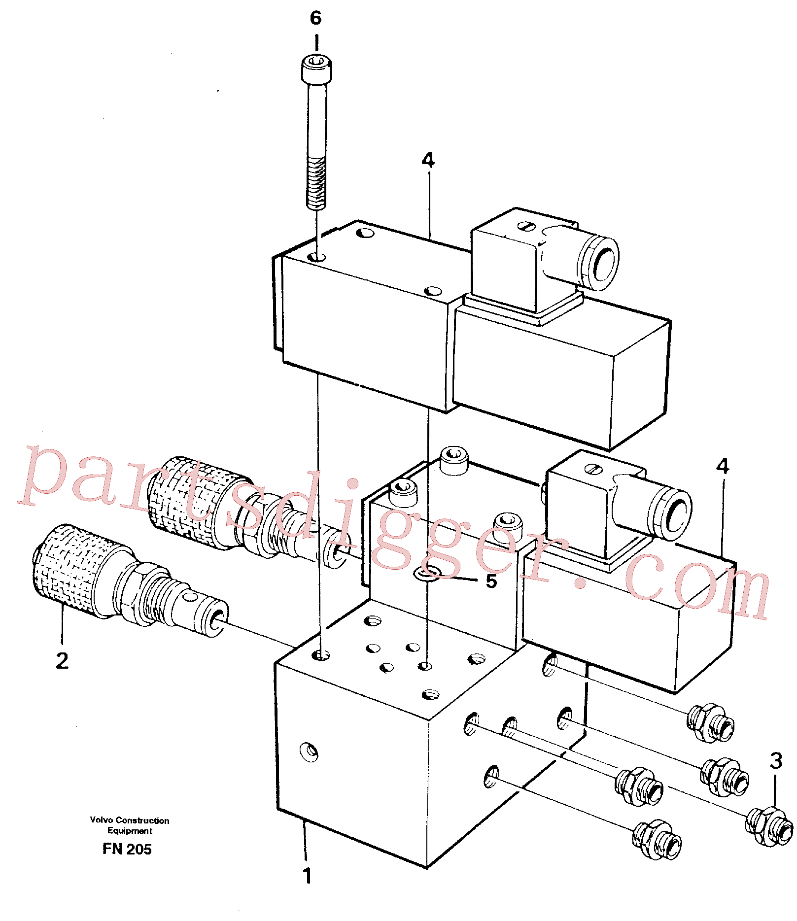 VOE14243114 for Volvo Control block for end position damp(FN205 assembly)