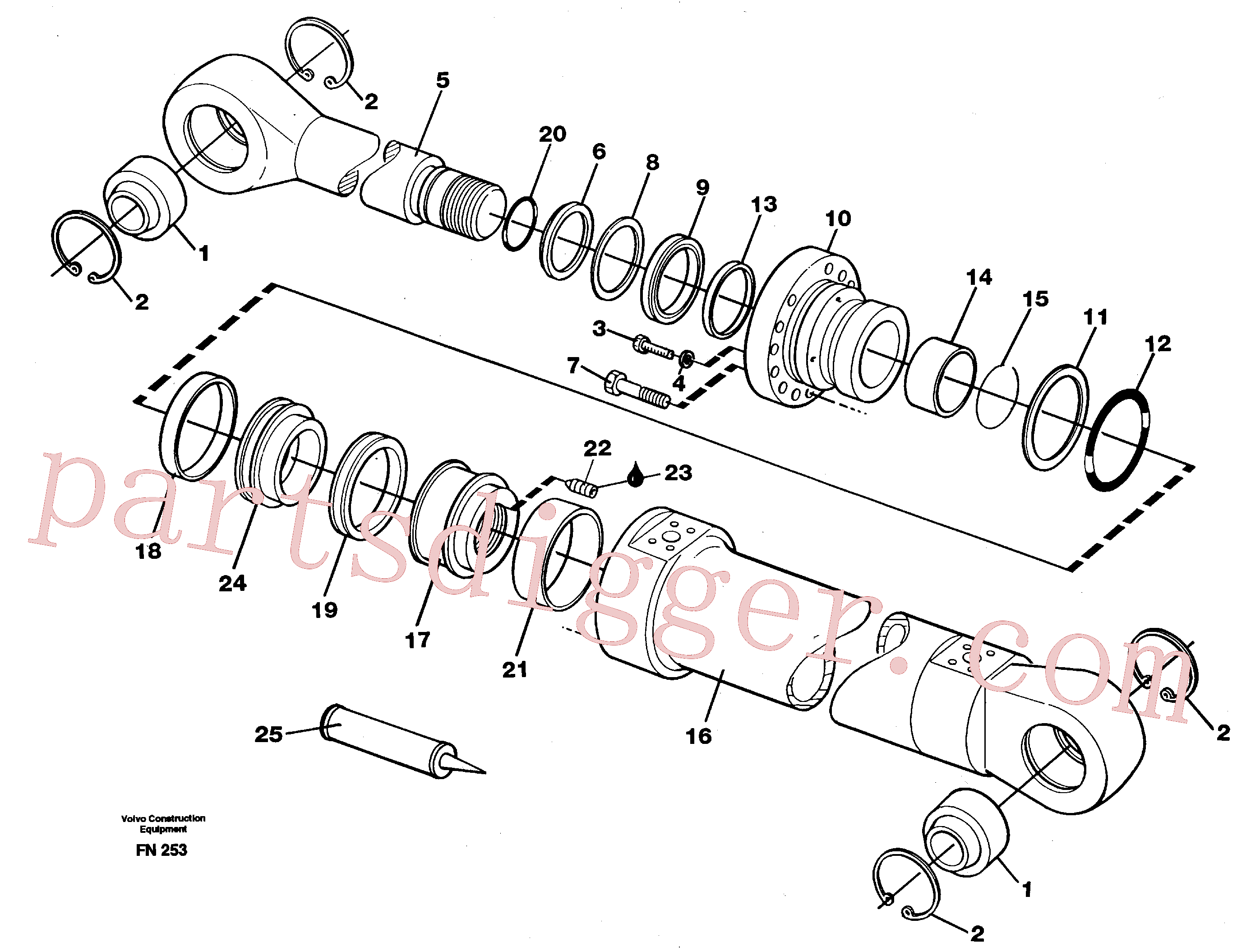 VOE949544 for Volvo Boom cylinder(FN253 assembly)