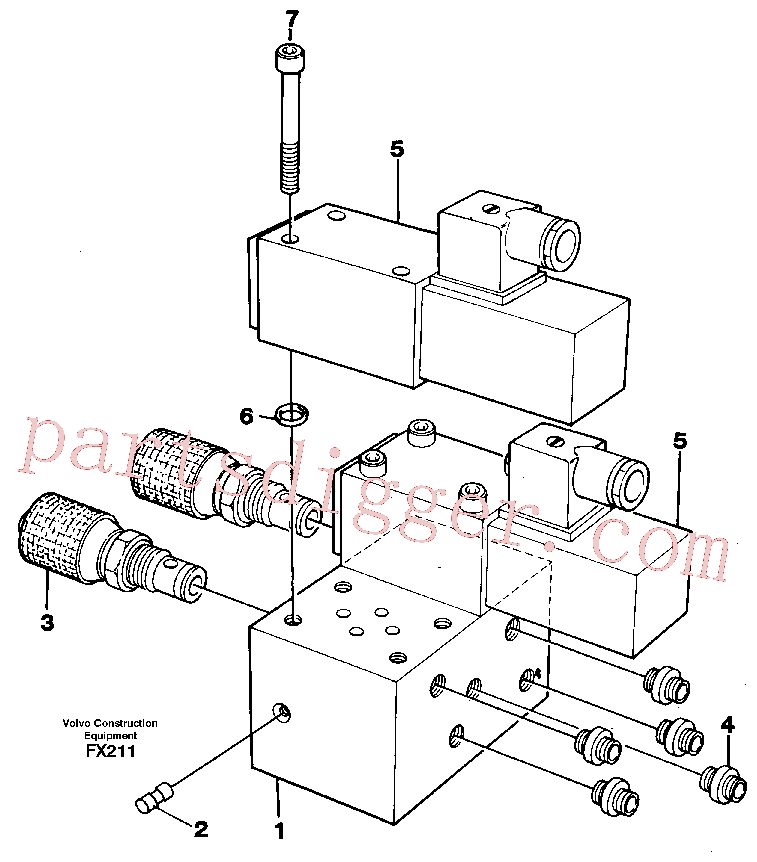 VOE14243114 for Volvo Control block for end position damp(FX211 assembly)