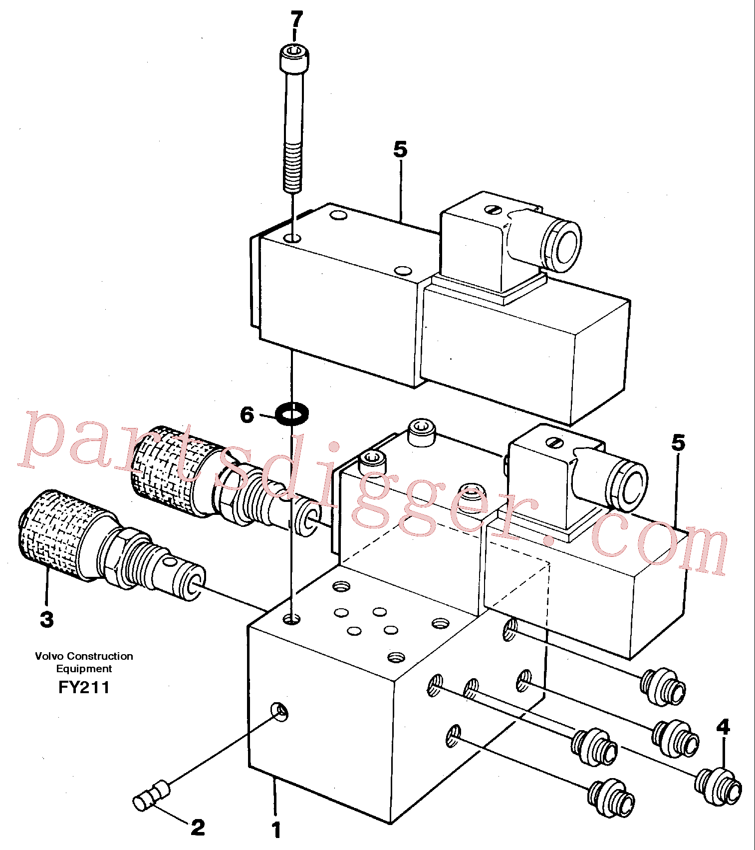 VOE14243114 for Volvo Control block, end pos. dampening(FY211 assembly)