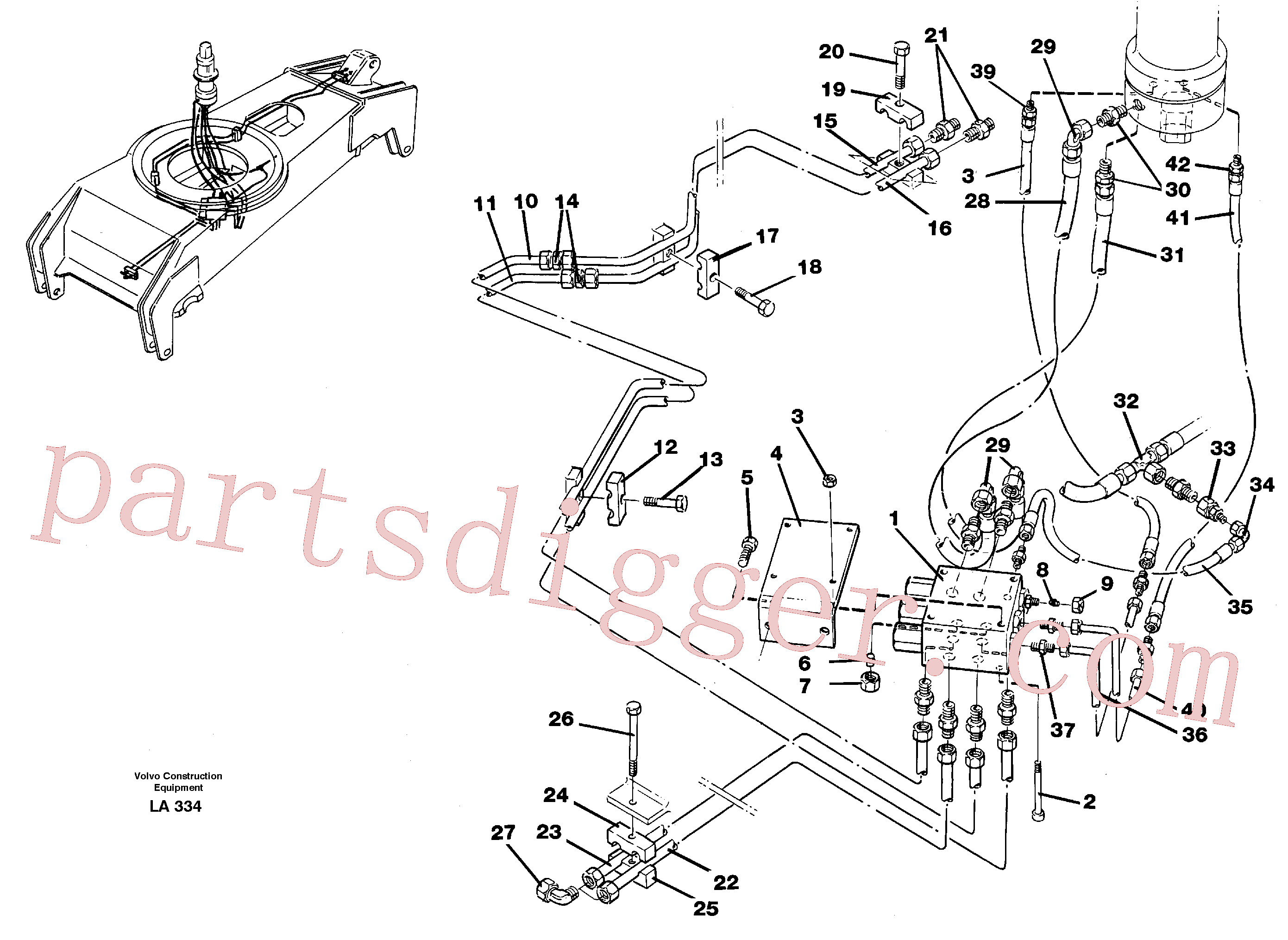 VOE14054604 for Volvo Hydraulicsystem, dozerblade,front and rear(LA334 assembly)