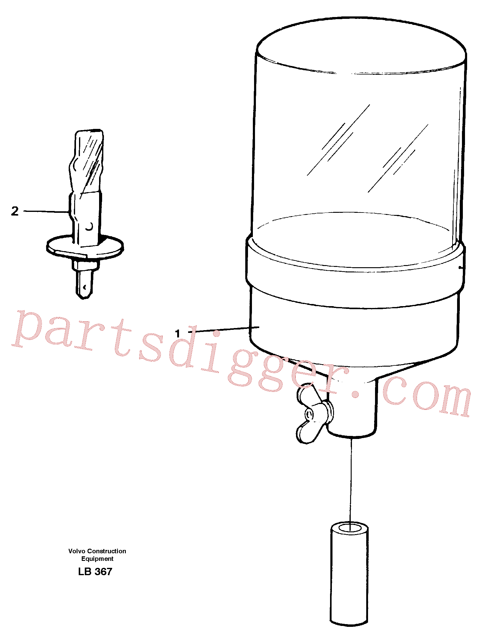 VOE14214374 for Volvo Rotating beacon(LB367 assembly)