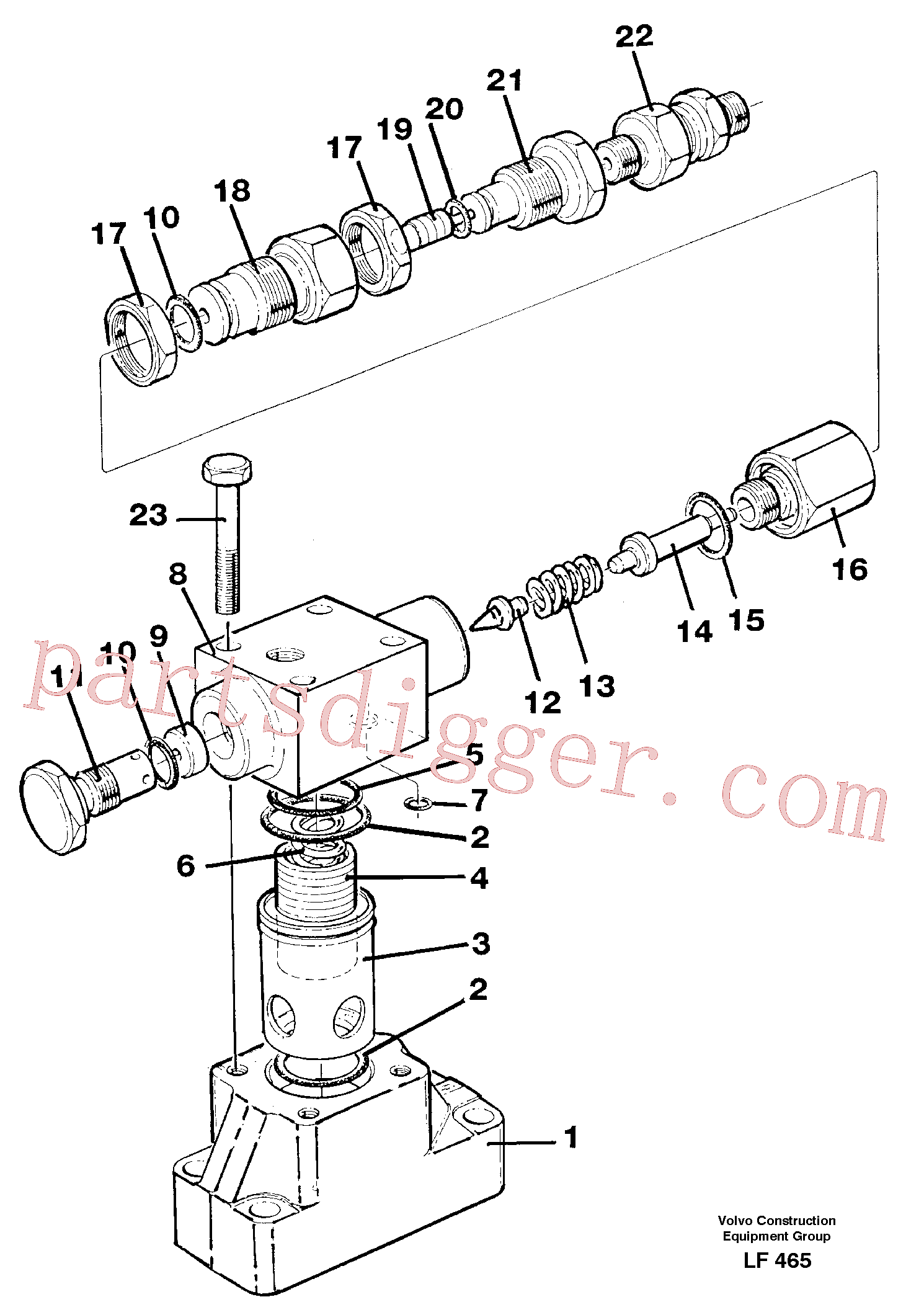 VOE14235612 for Volvo Pressure limiting valve(LF465 assembly)