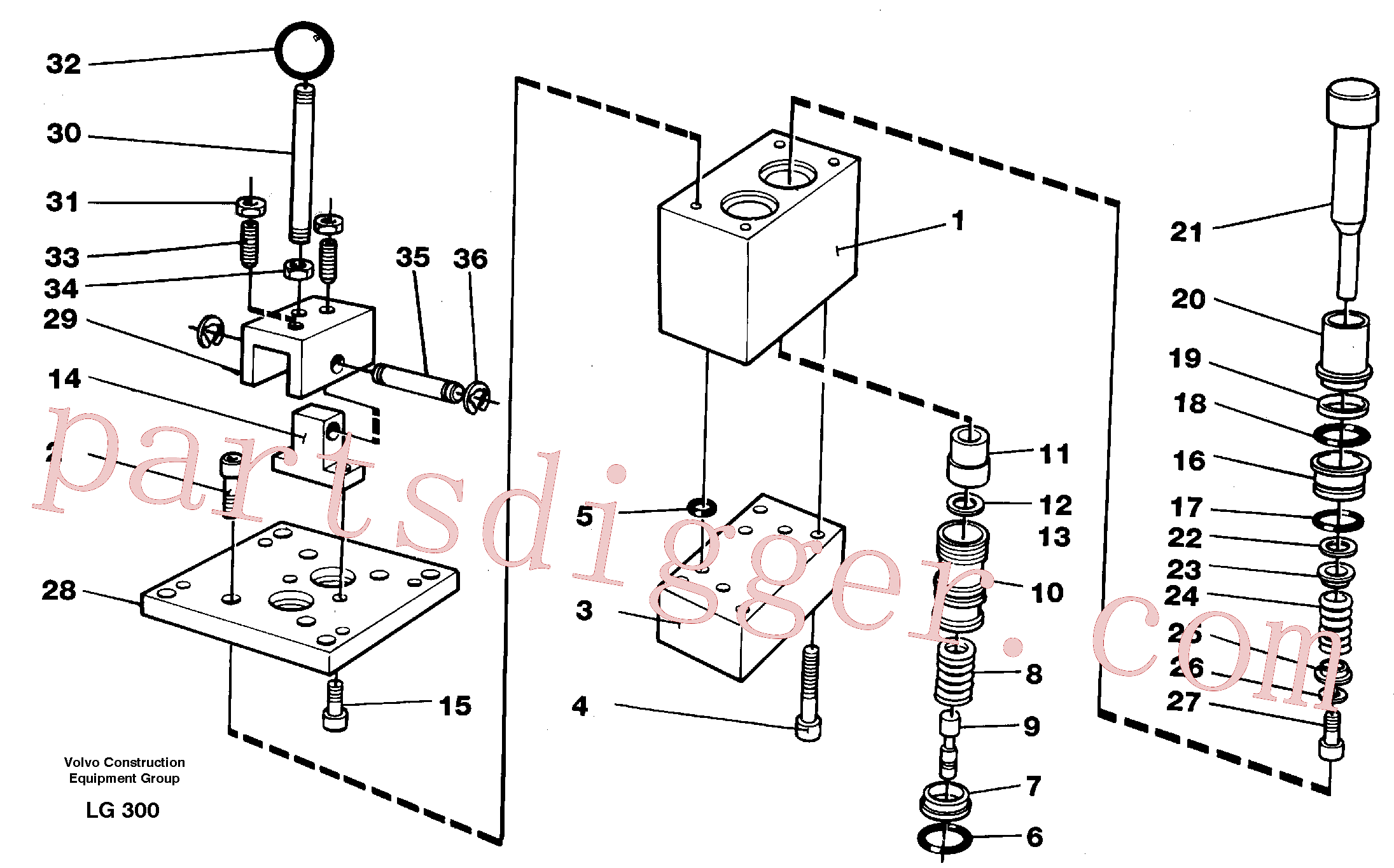 VOE14243100 for Volvo Control pressure valve(LG300 assembly)