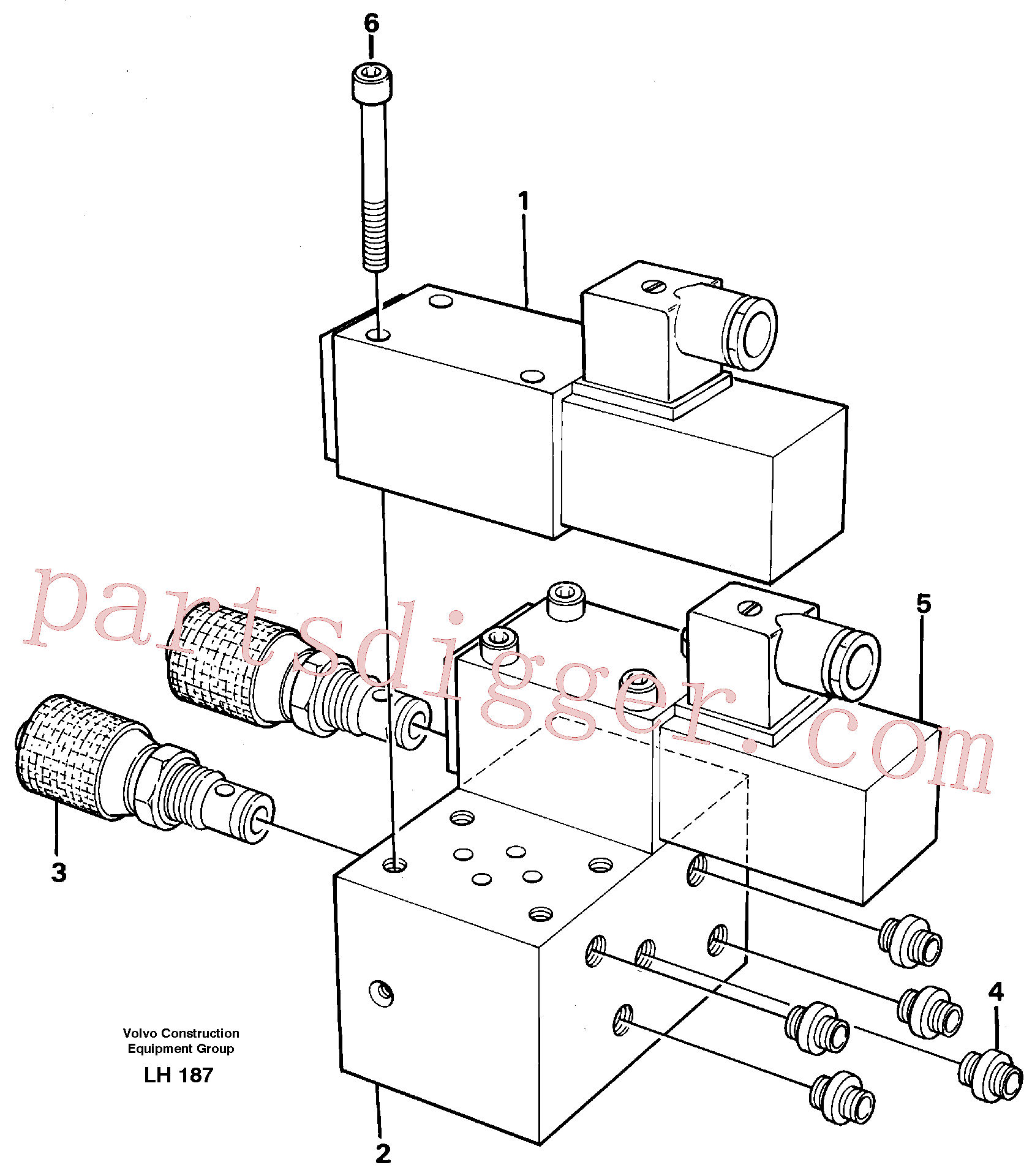 VOE14243114 for Volvo Control block, end pos. dampening(LH187 assembly)