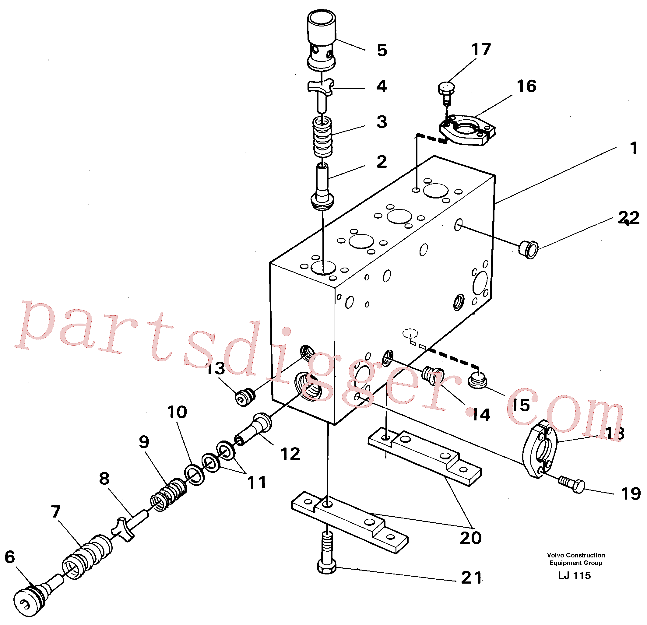 VOE14048712 for Volvo Connection board(LJ115 assembly)
