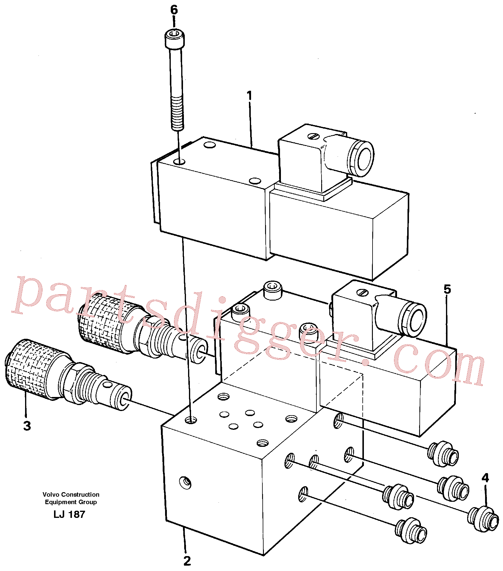 VOE14243114 for Volvo Control block for end position damp(LJ187 assembly)