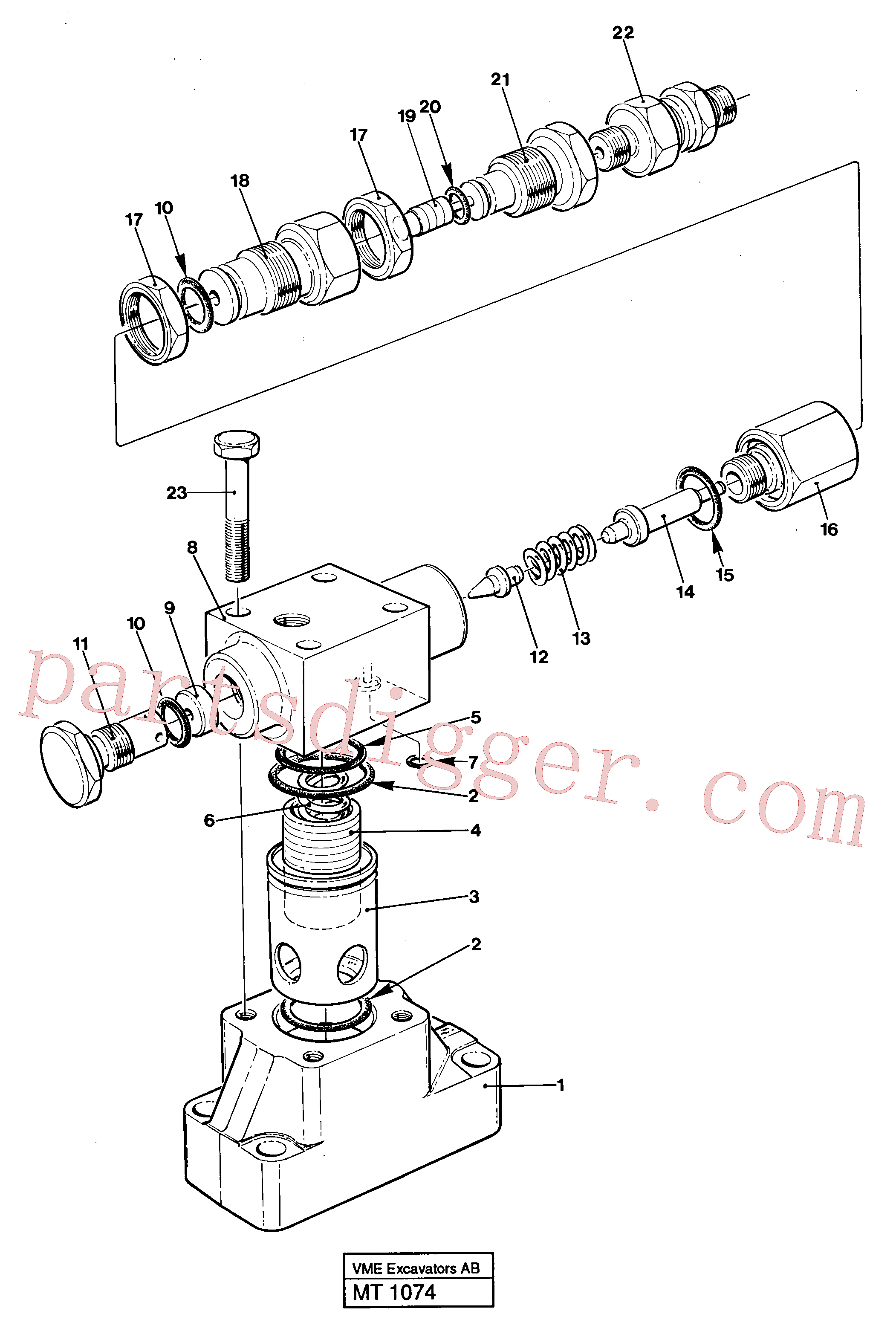 VOE14235612 for Volvo Pressure limiting valve(MT1074 assembly)