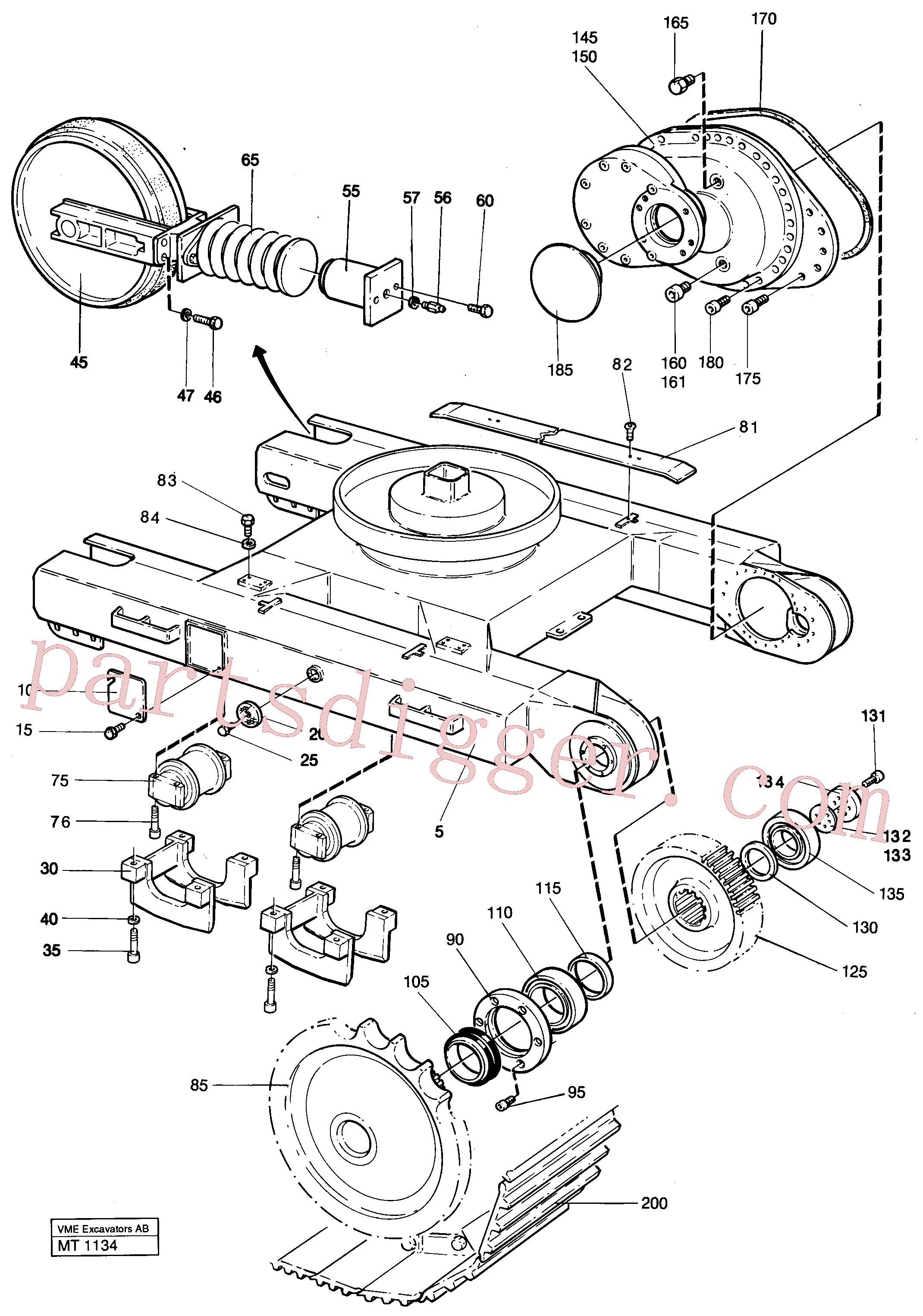 VOE13970967 for Volvo Undercarriage Ec 230 Undercarriage Ec 229(MT1134 assembly)