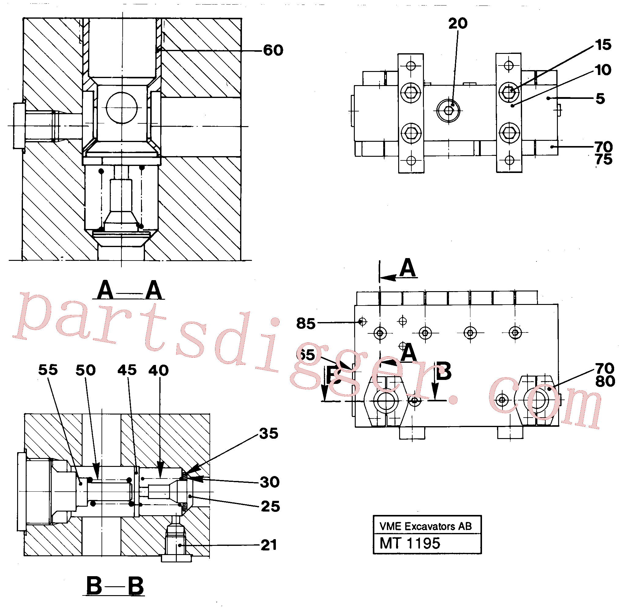 VOE14048712 for Volvo Connection board(MT1195 assembly)
