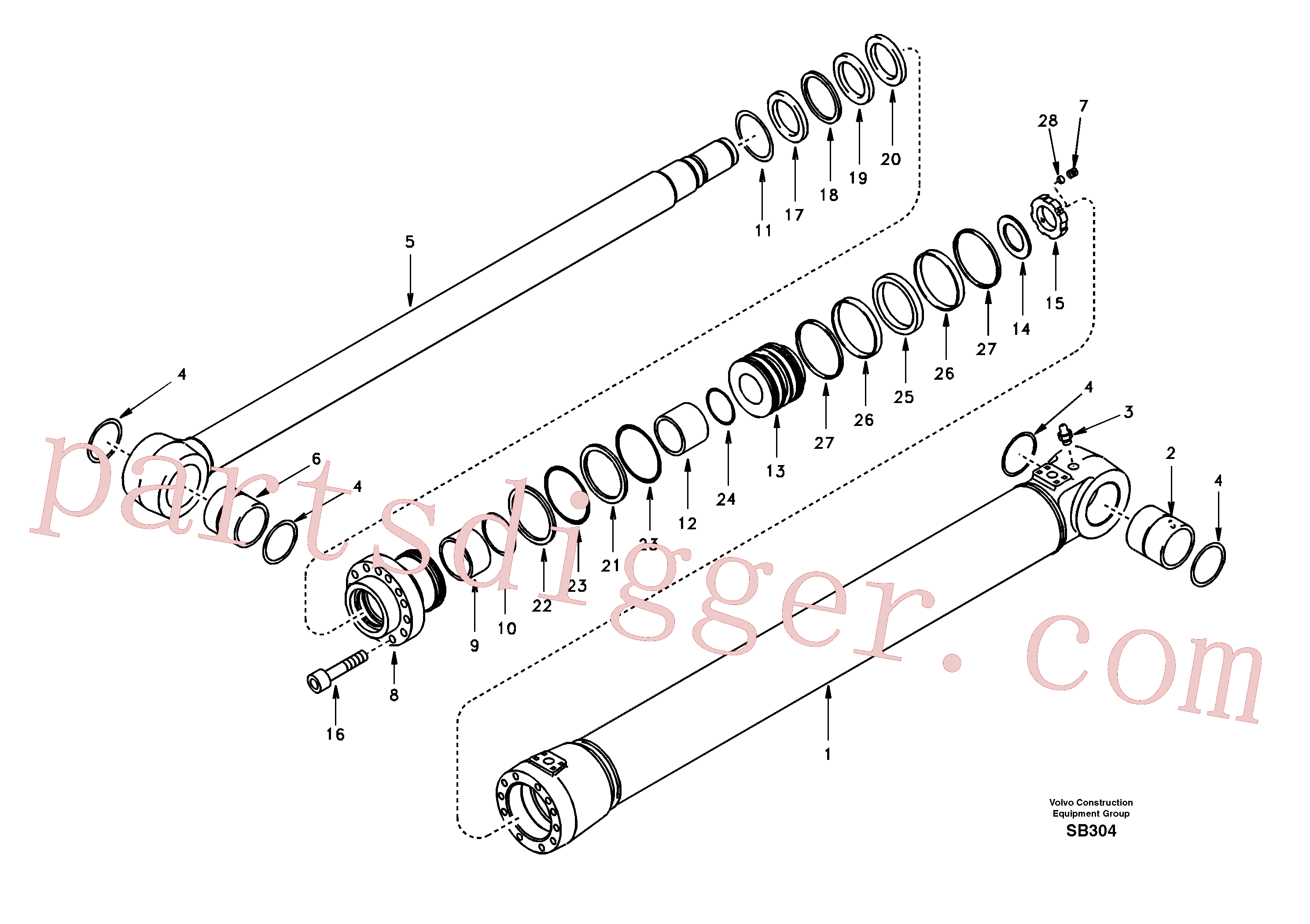 SA1146-00700 for Volvo Boom cylinder(SB304 assembly)