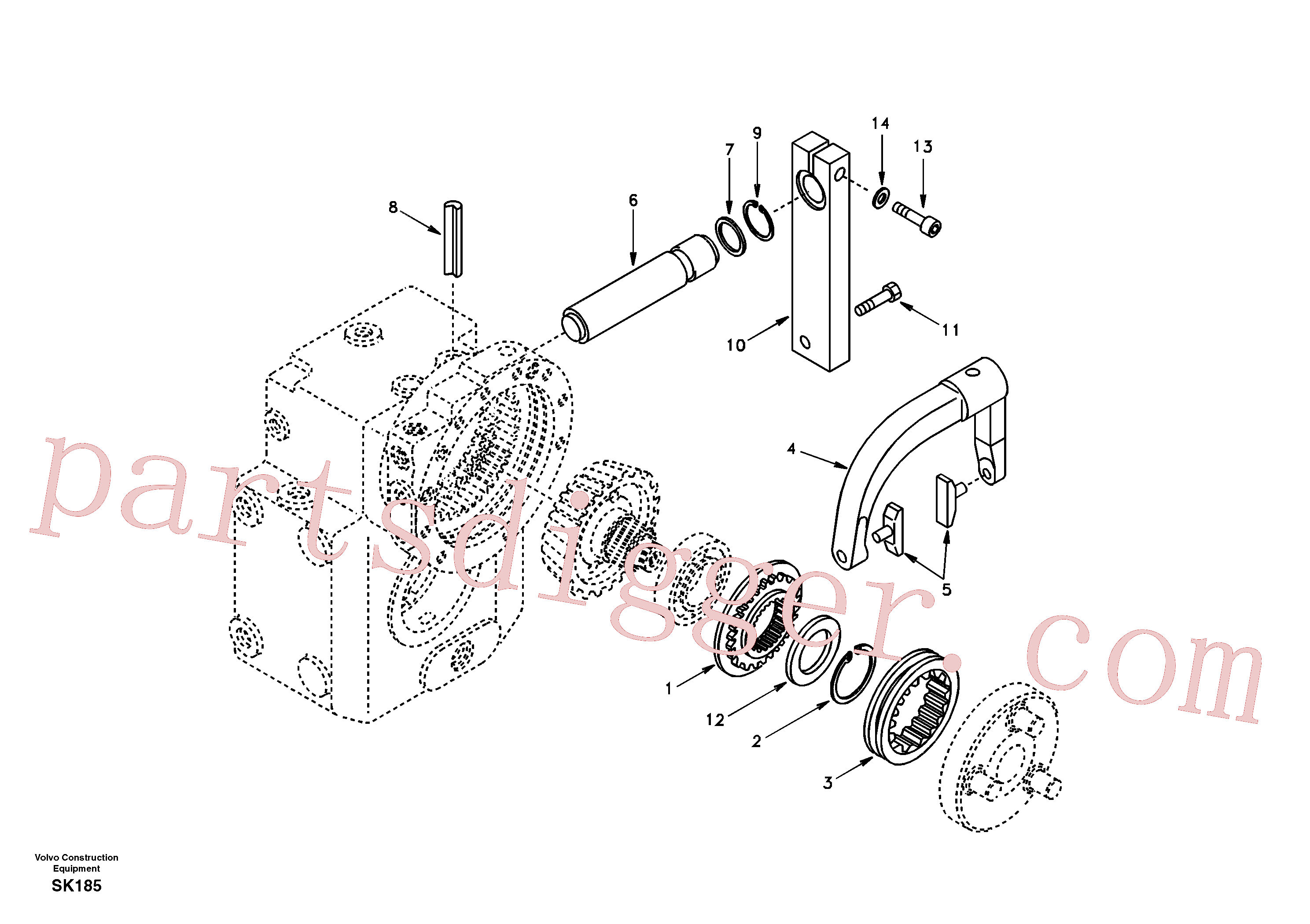 VOE6635205 for Volvo Disconnection(SK185 assembly)