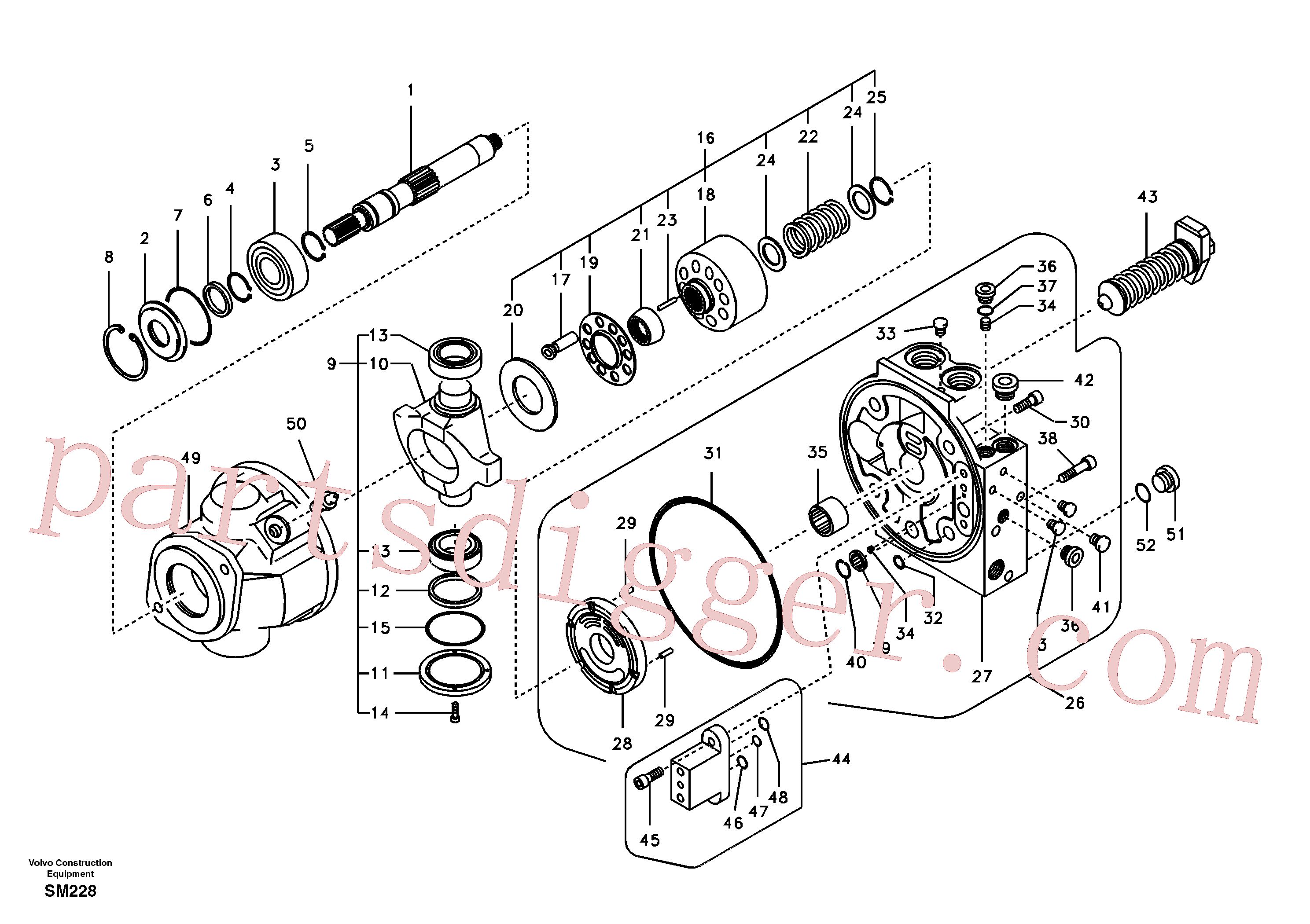 VOE14505487 for Volvo Hydraulic pump(SM228 assembly)