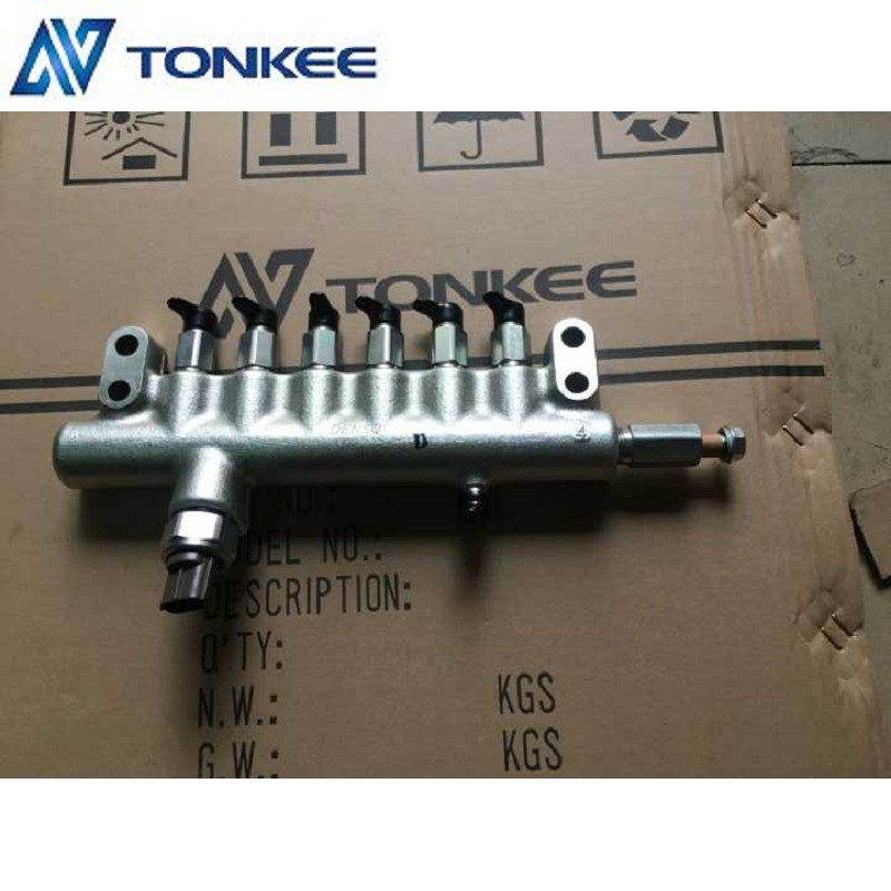 6HK1 engine common rail assy, 6HK1 fuel common rail, 8-98152950-2 fuel rail, ISUZU Rail asm common